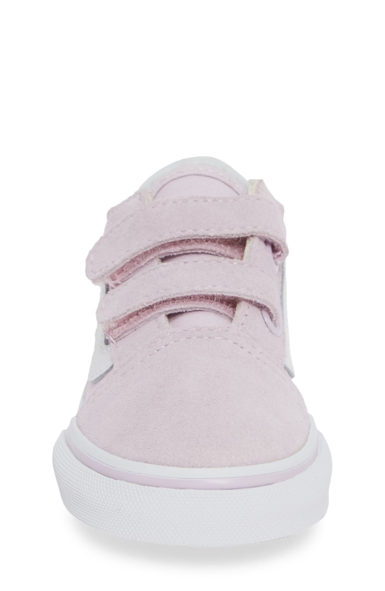 'Old Skool V' Sneaker,                             Alternate thumbnail 4, color,                             LAVENDER FOG/ TRUE WHITE