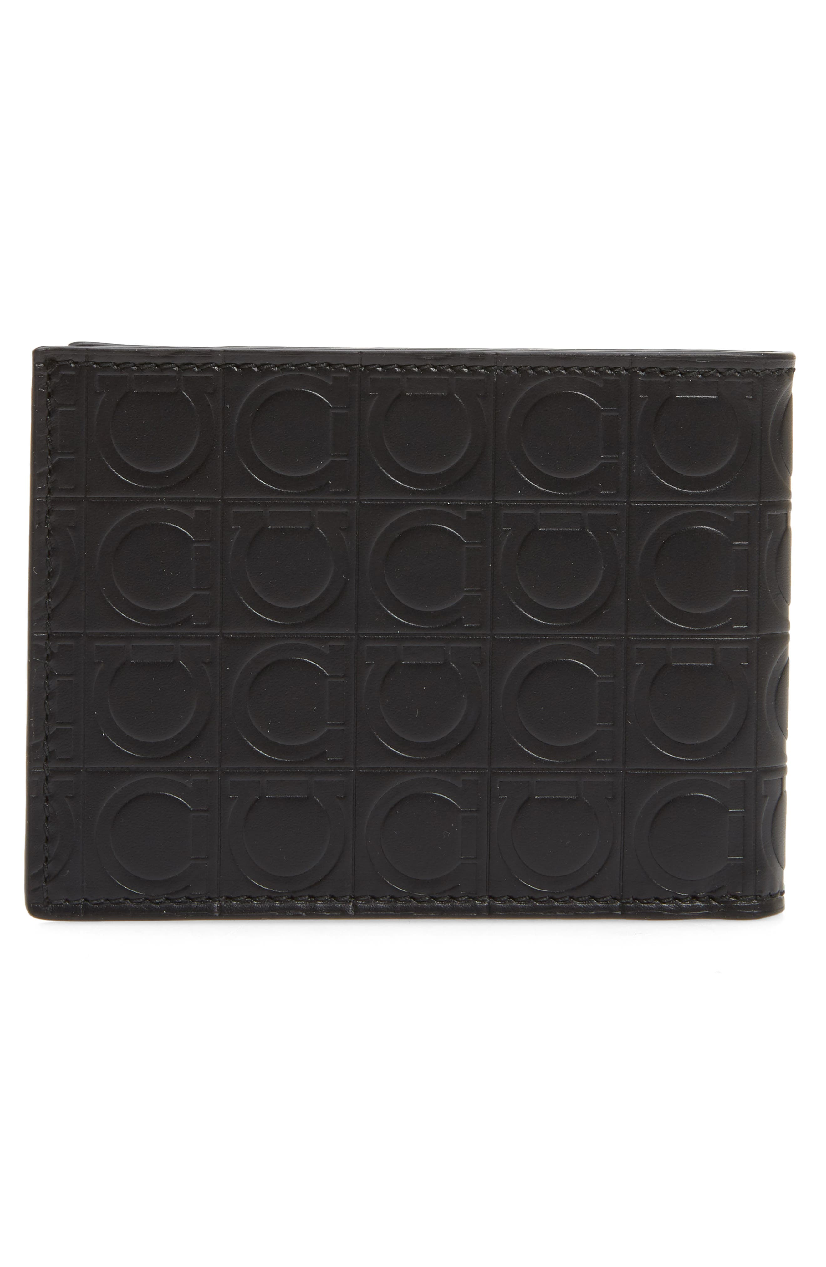 Firenze Gamma Leather Wallet,                             Alternate thumbnail 3, color,                             BLACK