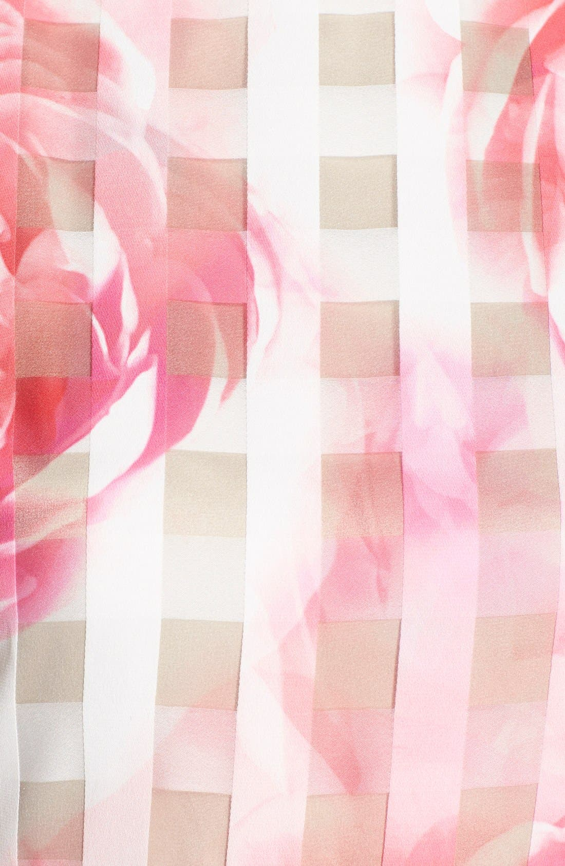 Floral Organza Fit & Flare Dress,                             Alternate thumbnail 4, color,                             660