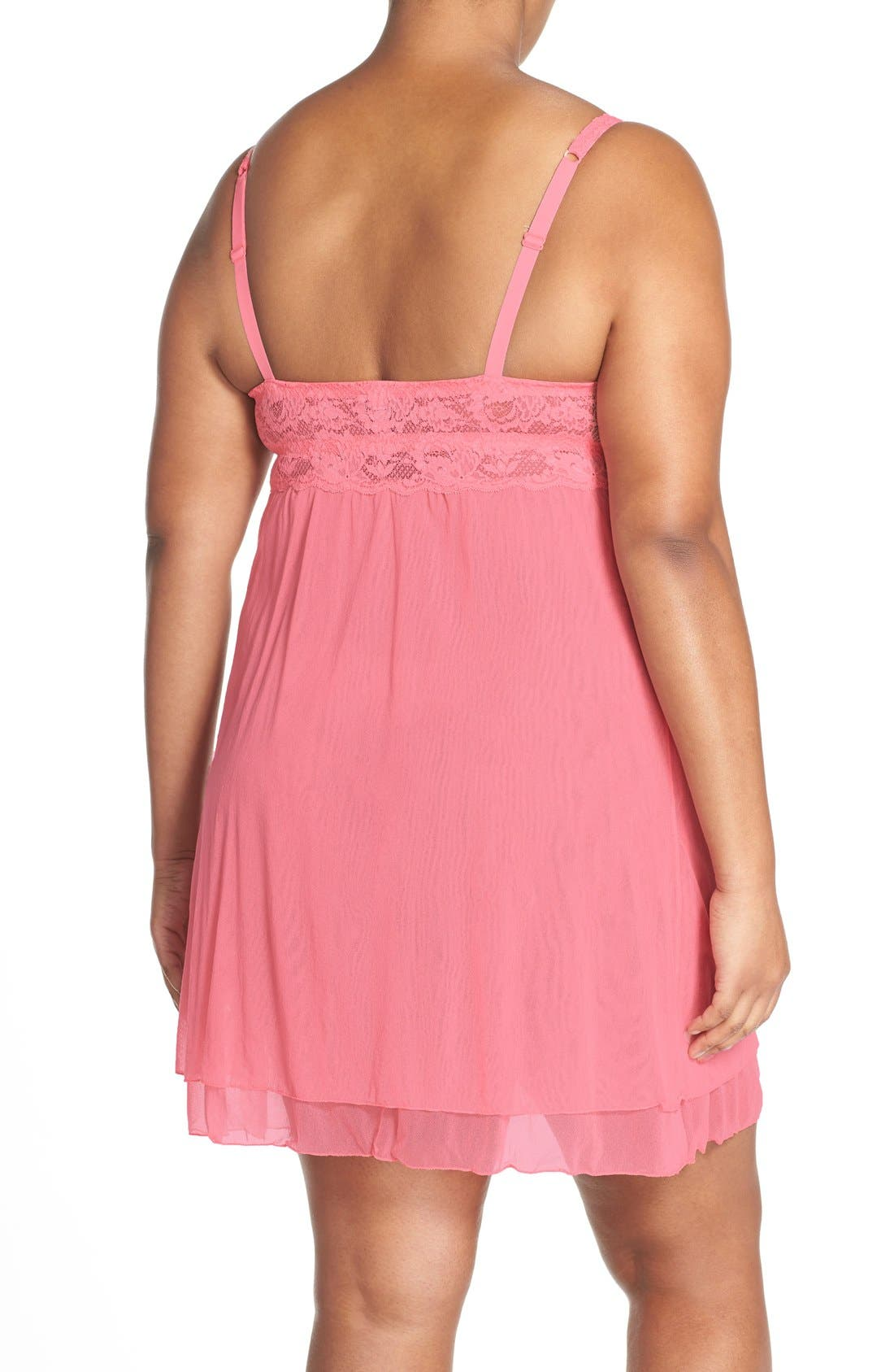 'Never Say Never' Babydoll Chemise,                             Alternate thumbnail 11, color,