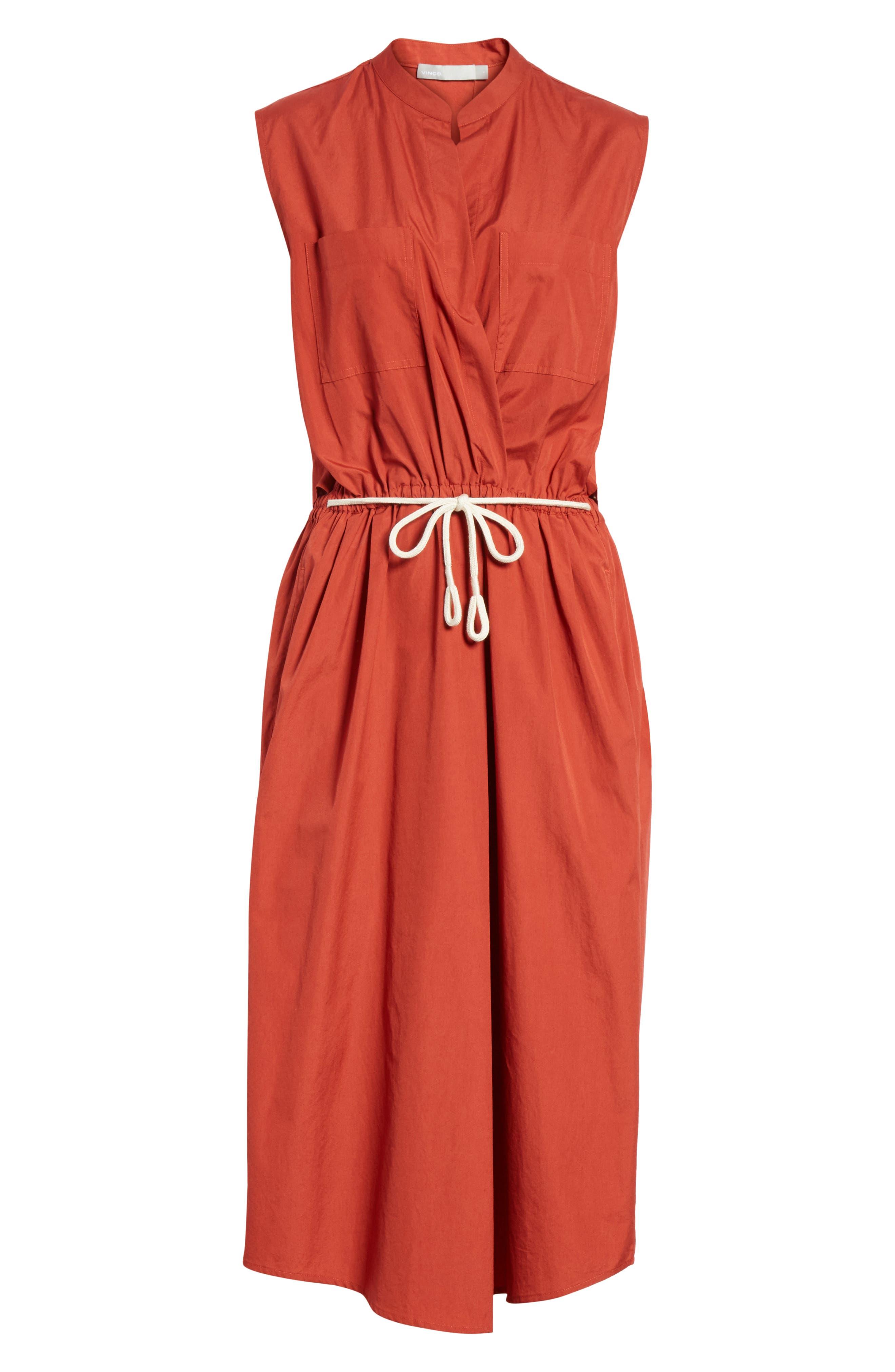 Back Cutout Cotton Utility Dress,                             Alternate thumbnail 12, color,