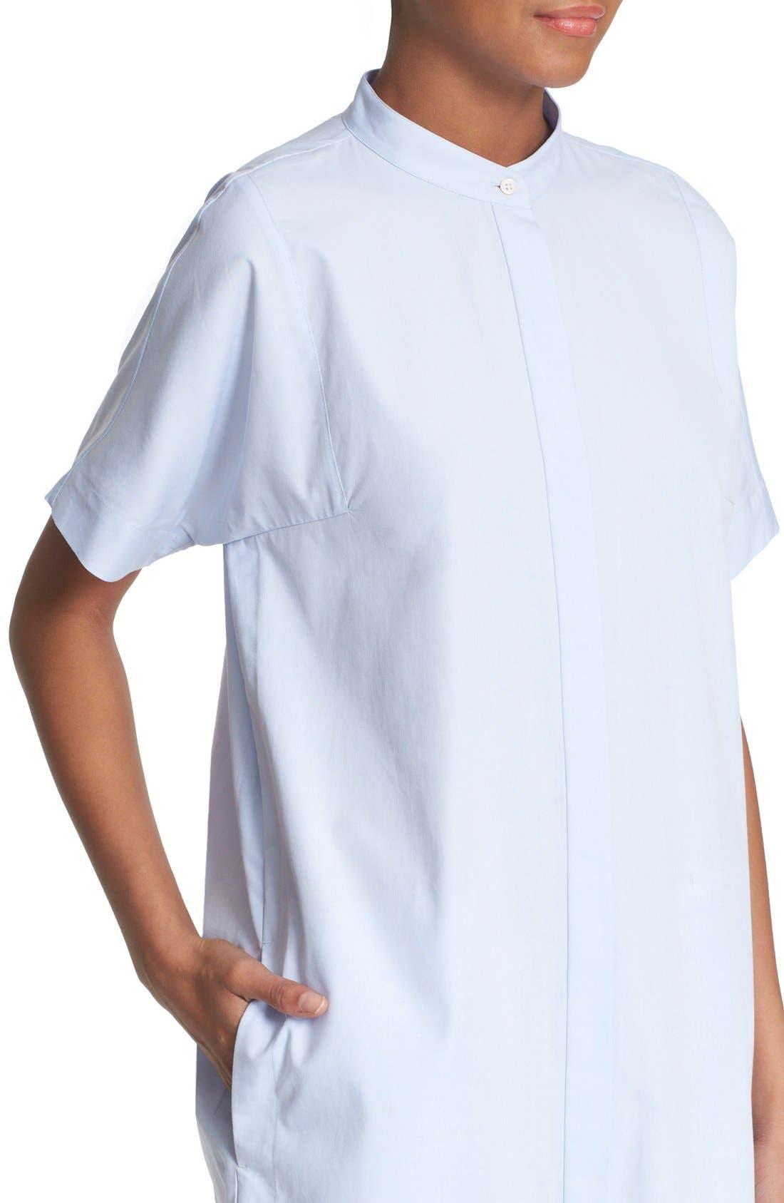 Cotton Shirtdress,                             Alternate thumbnail 4, color,                             456
