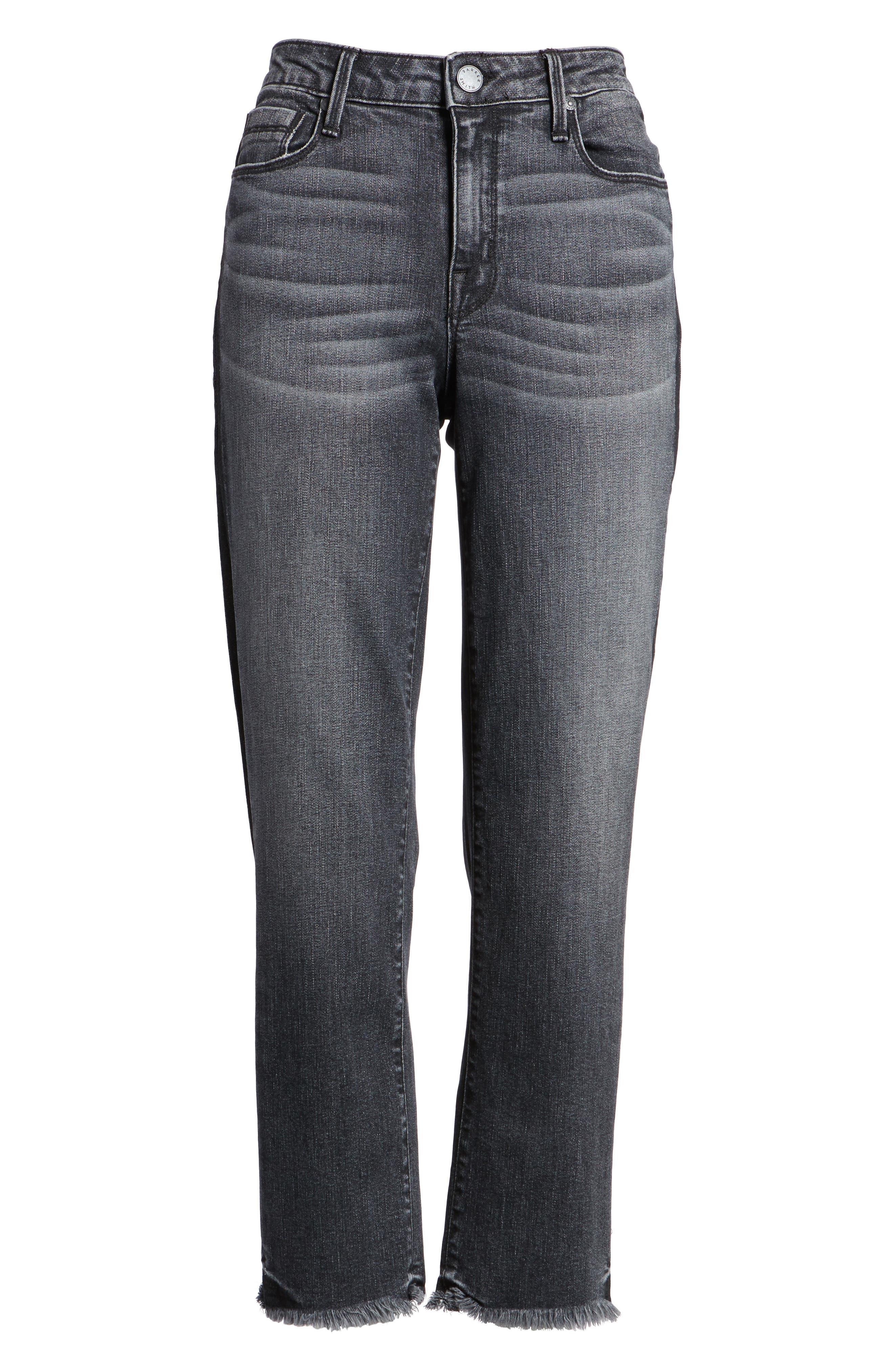 PARKER SMITH,                             Straight Leg Crop Jeans,                             Alternate thumbnail 6, color,                             010