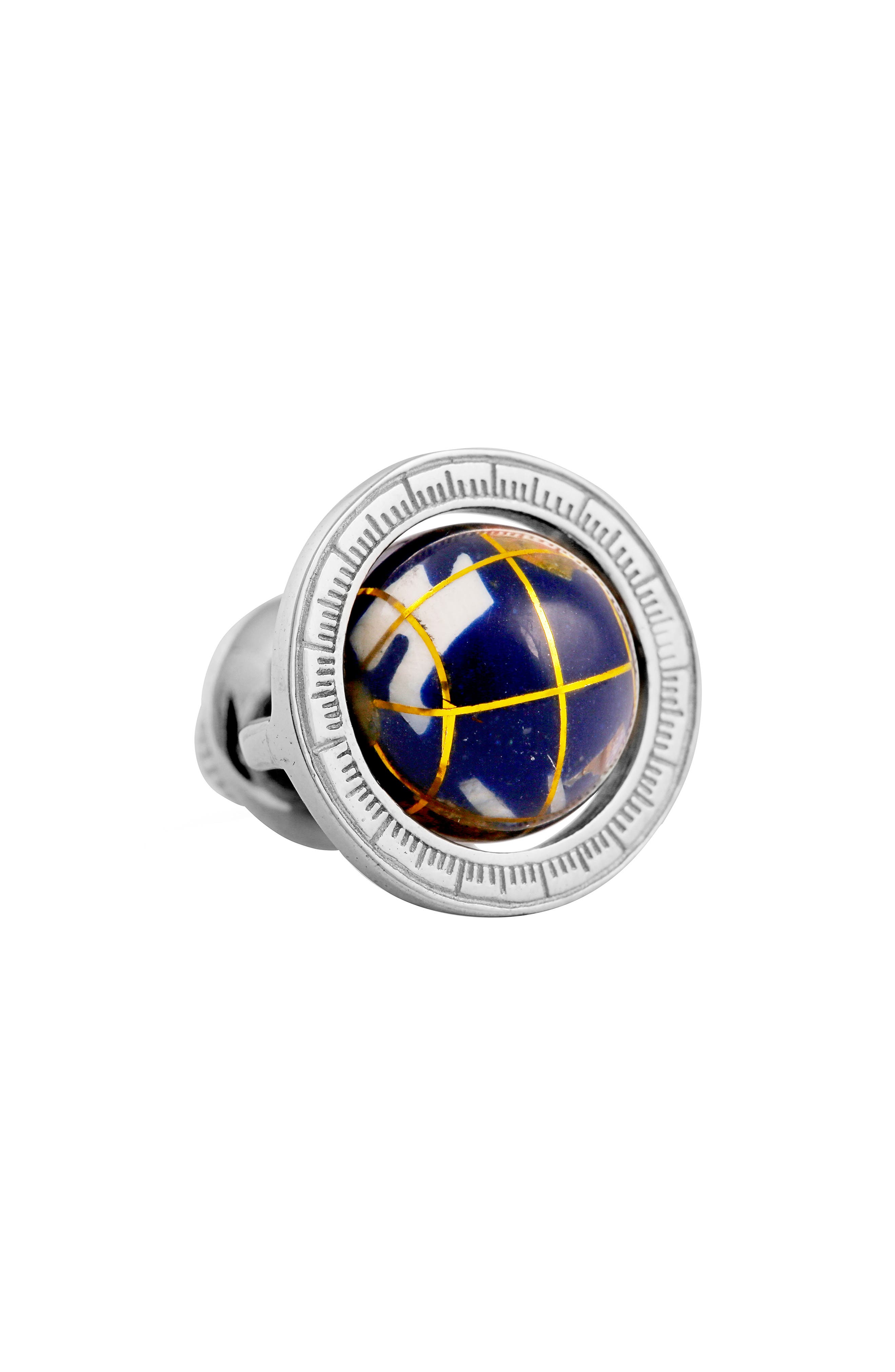 Tateosssian Globe Pin,                         Main,                         color, LAPIS