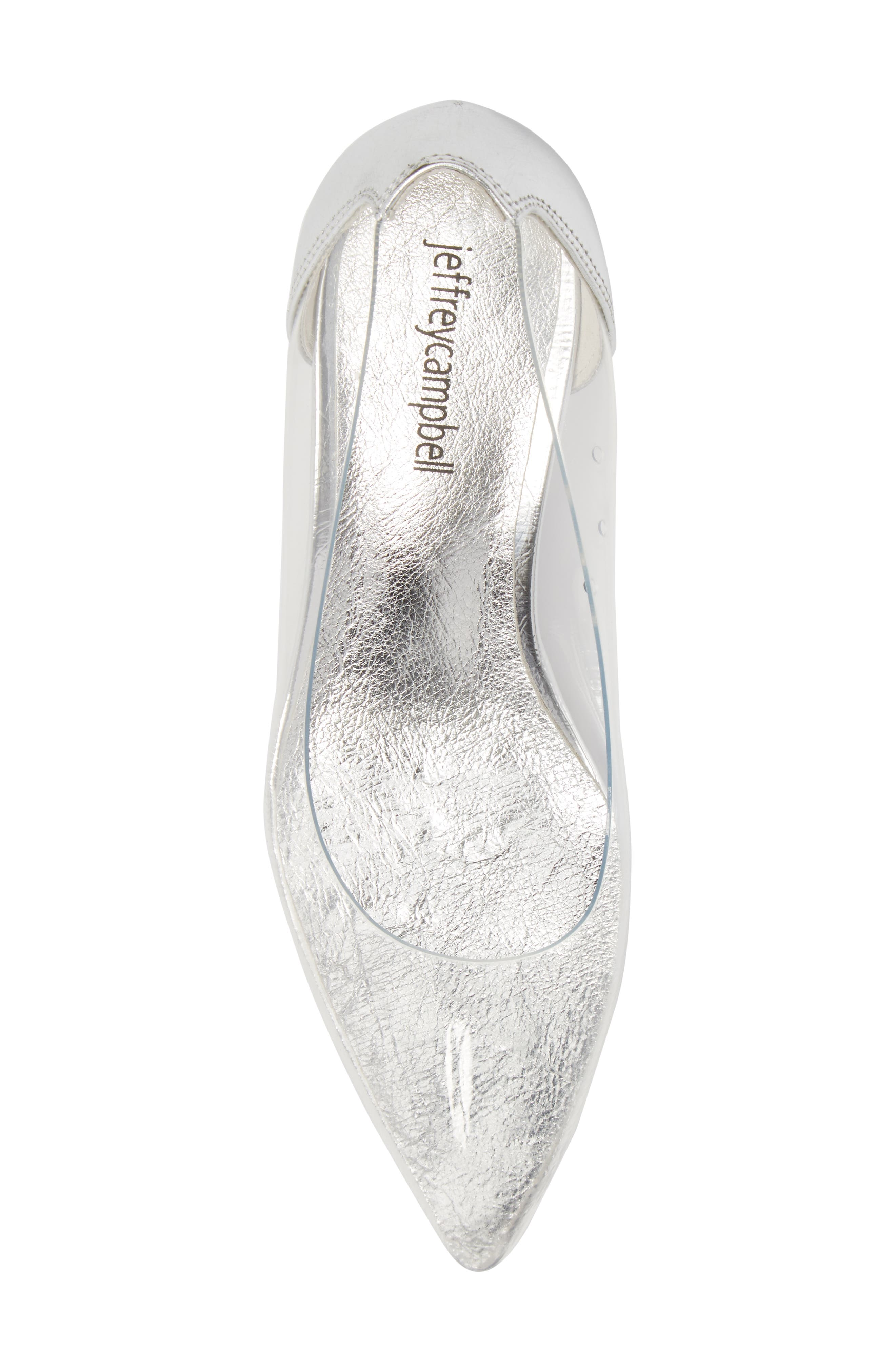 Gracienne Transparent Pump,                             Alternate thumbnail 5, color,                             CLEAR/ SILVER LEATHER