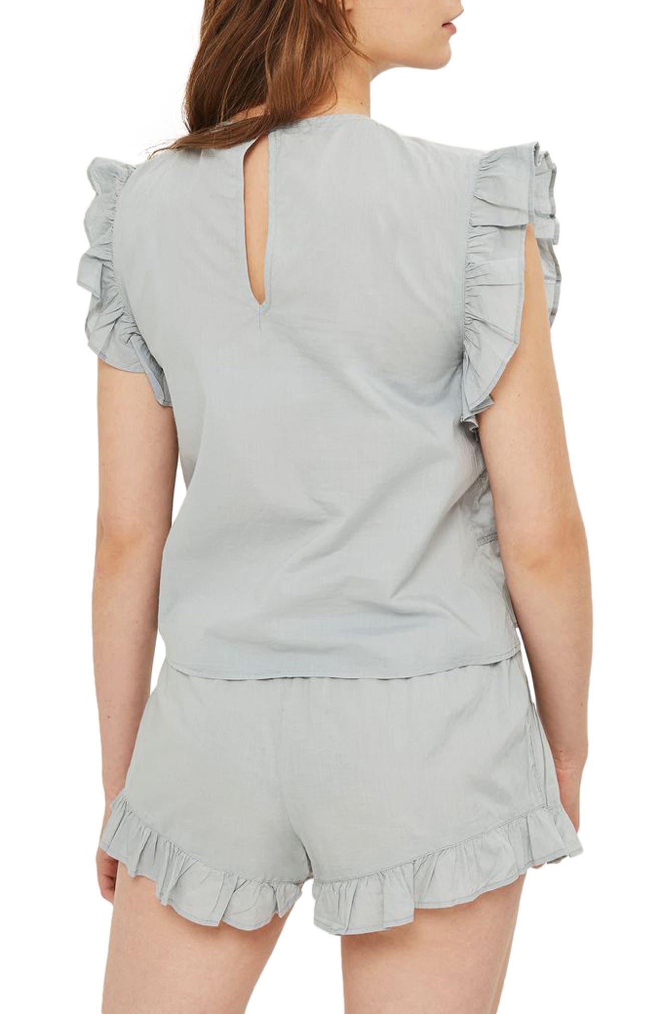 Bella Frilly Pajamas,                             Alternate thumbnail 2, color,                             020