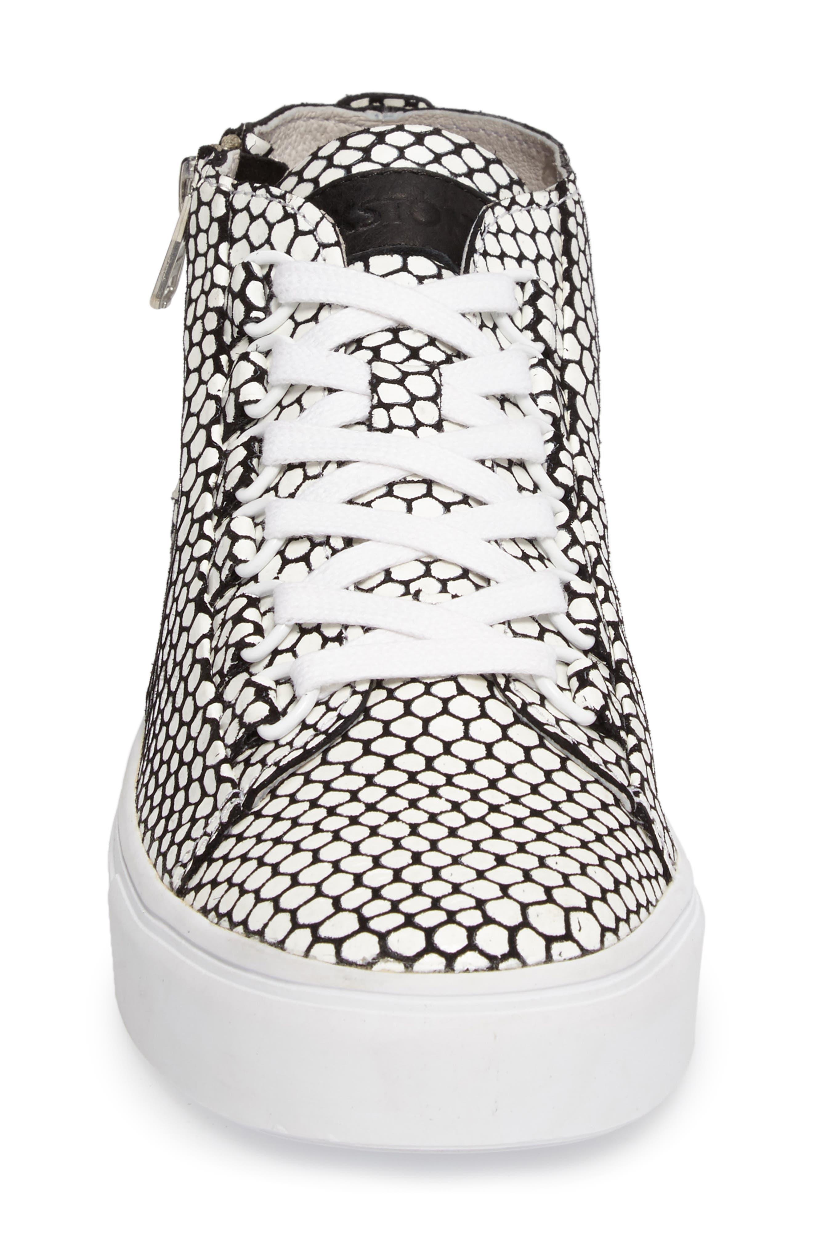 NL30 Midi Sneaker,                             Alternate thumbnail 4, color,                             WHITE HONEY LEATHER