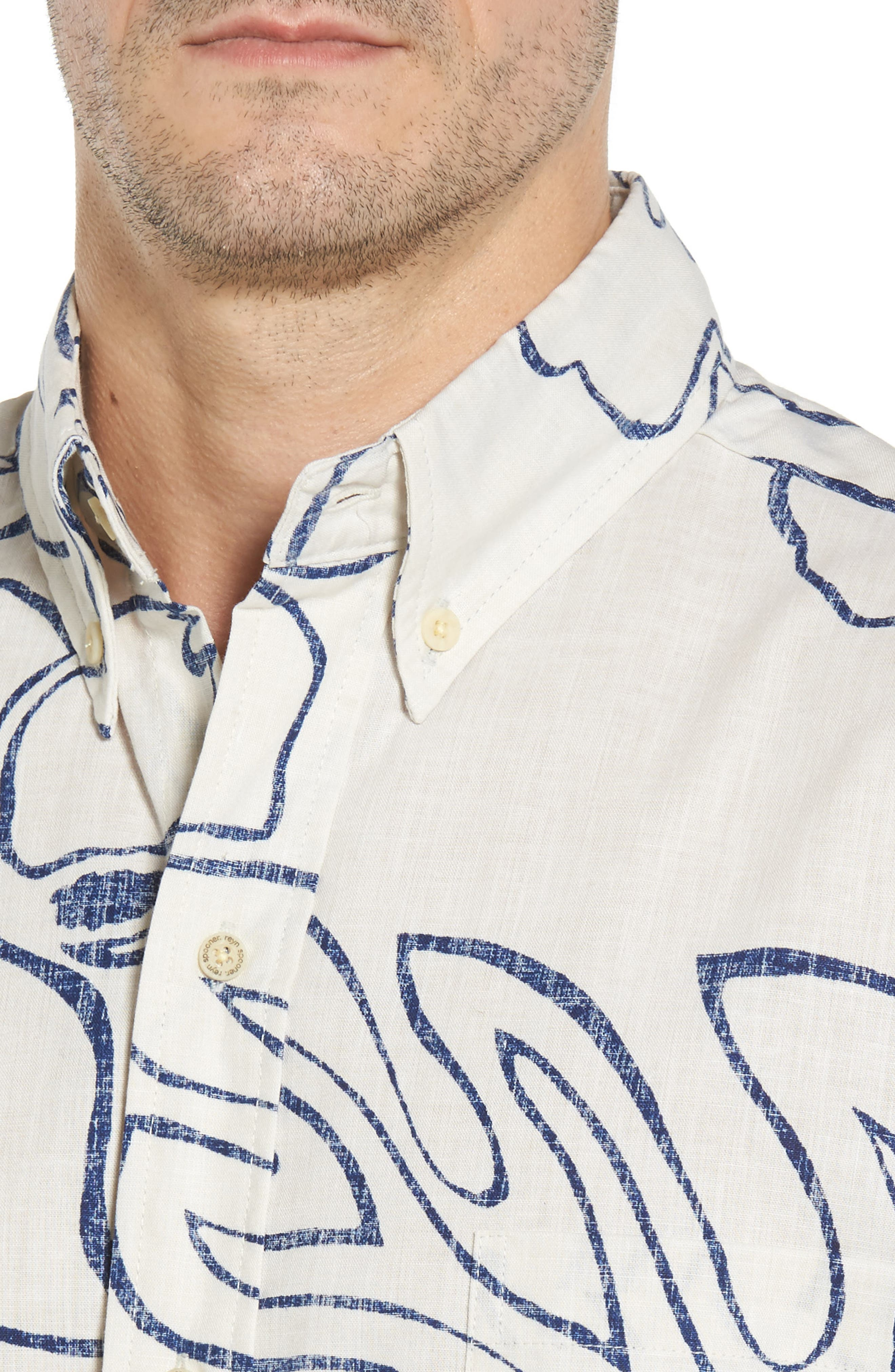 Monstera Ink Classic Fit Sport Shirt,                             Alternate thumbnail 4, color,                             104