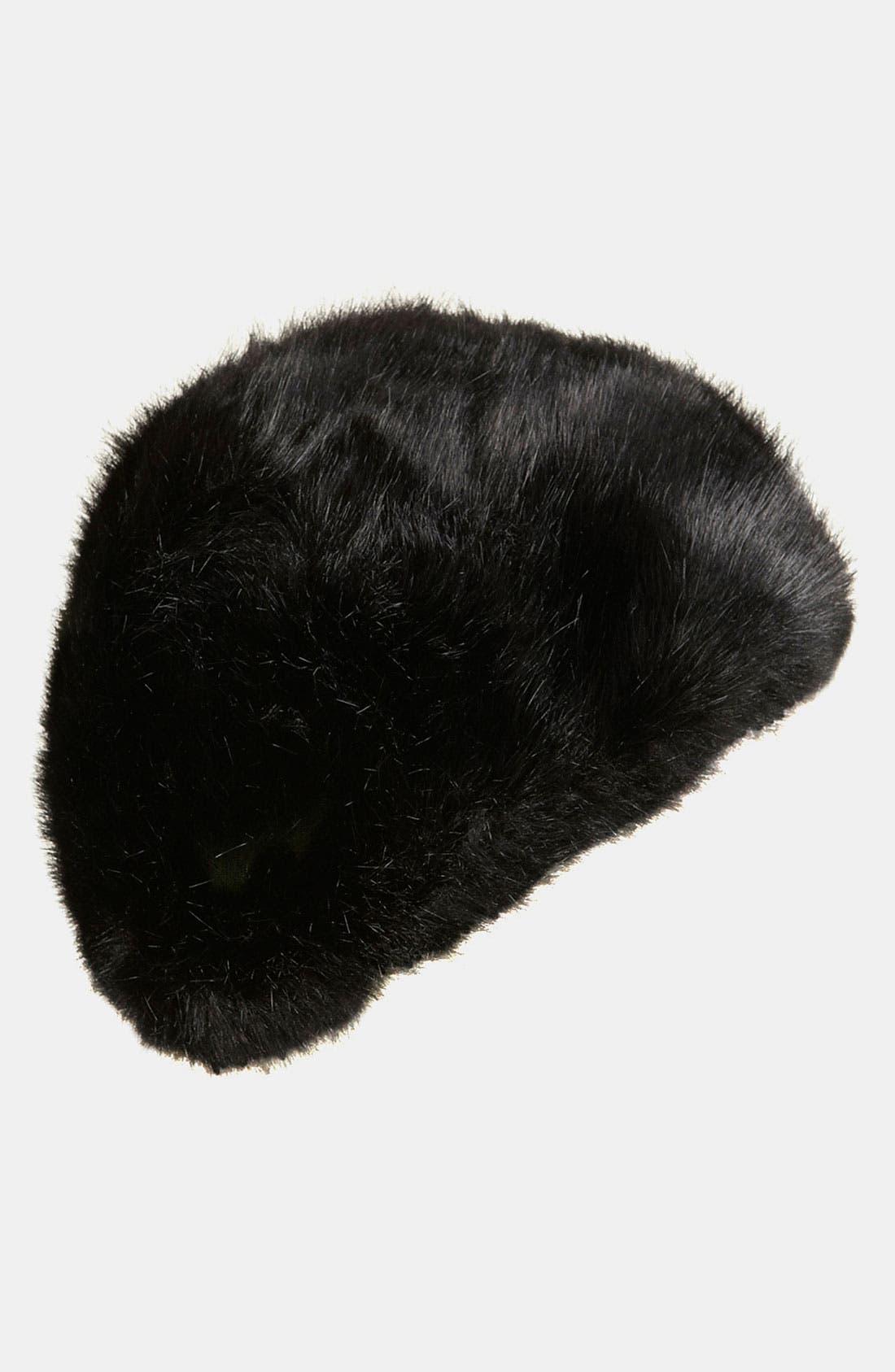 Faux Fur Hat,                             Main thumbnail 1, color,                             001