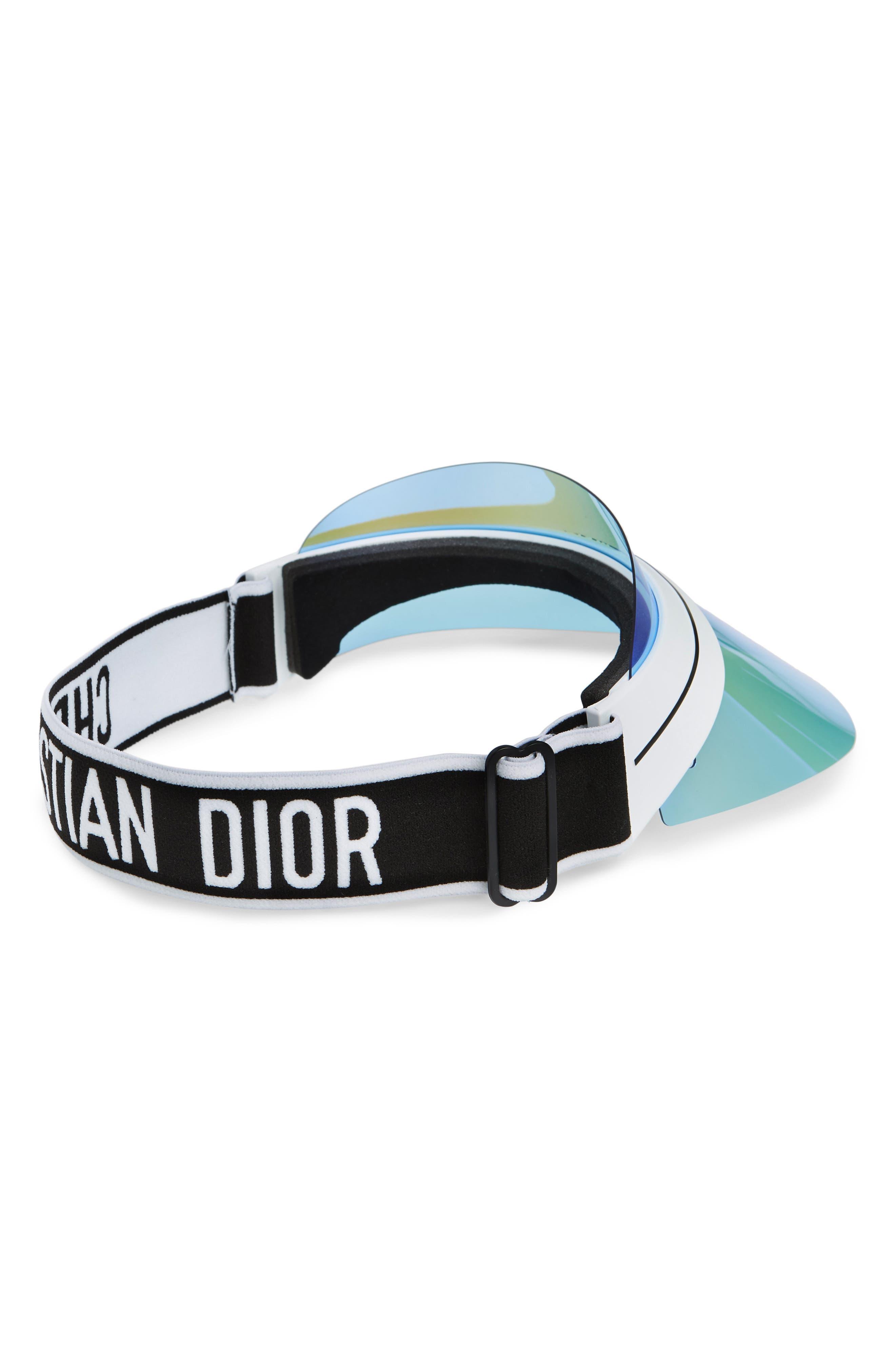 DiorClub1 Visor,                             Alternate thumbnail 2, color,                             METALLIC BLUE/ GUNMETAL