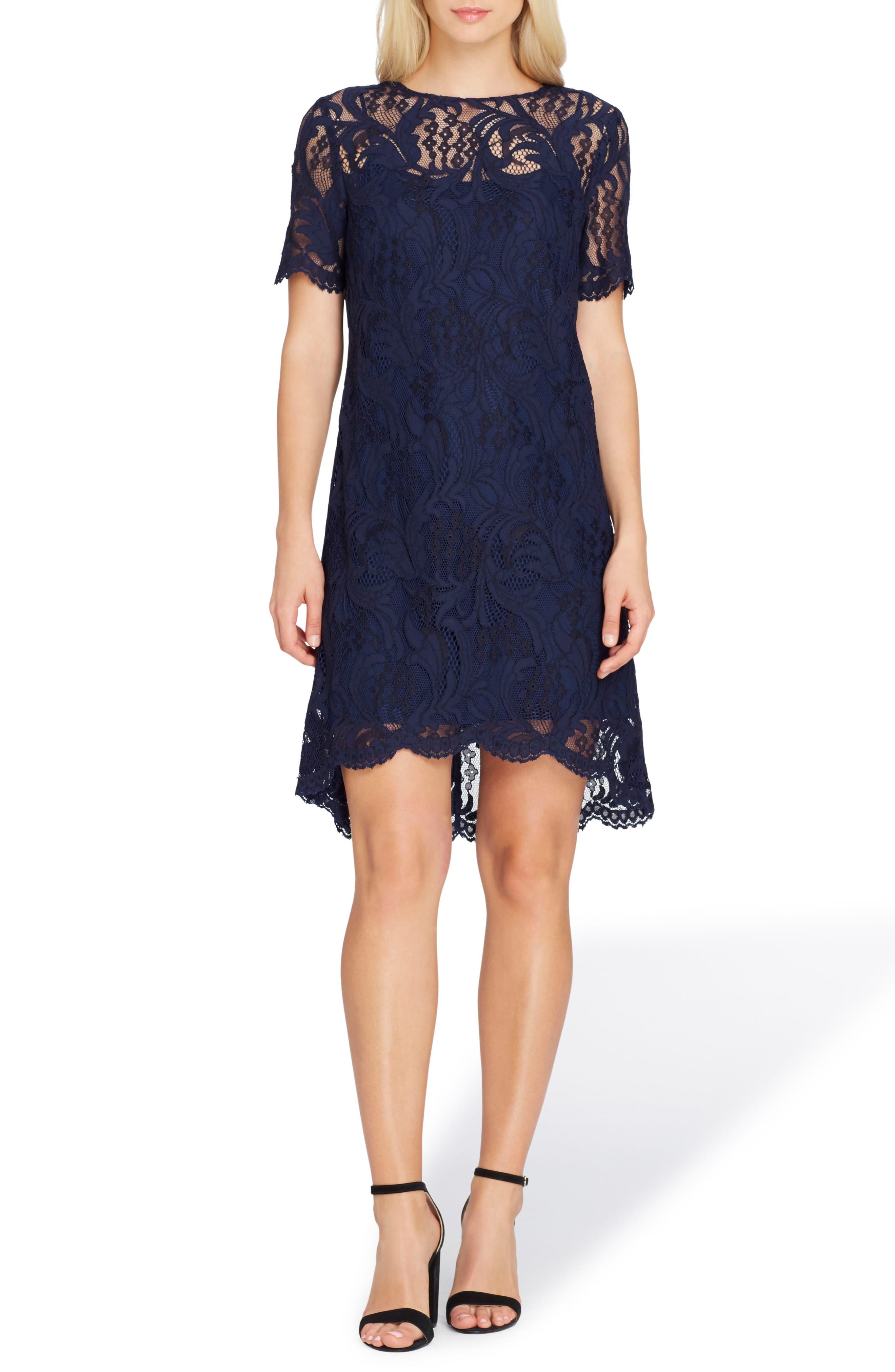 Lace High/Low Dress,                             Main thumbnail 1, color,                             412