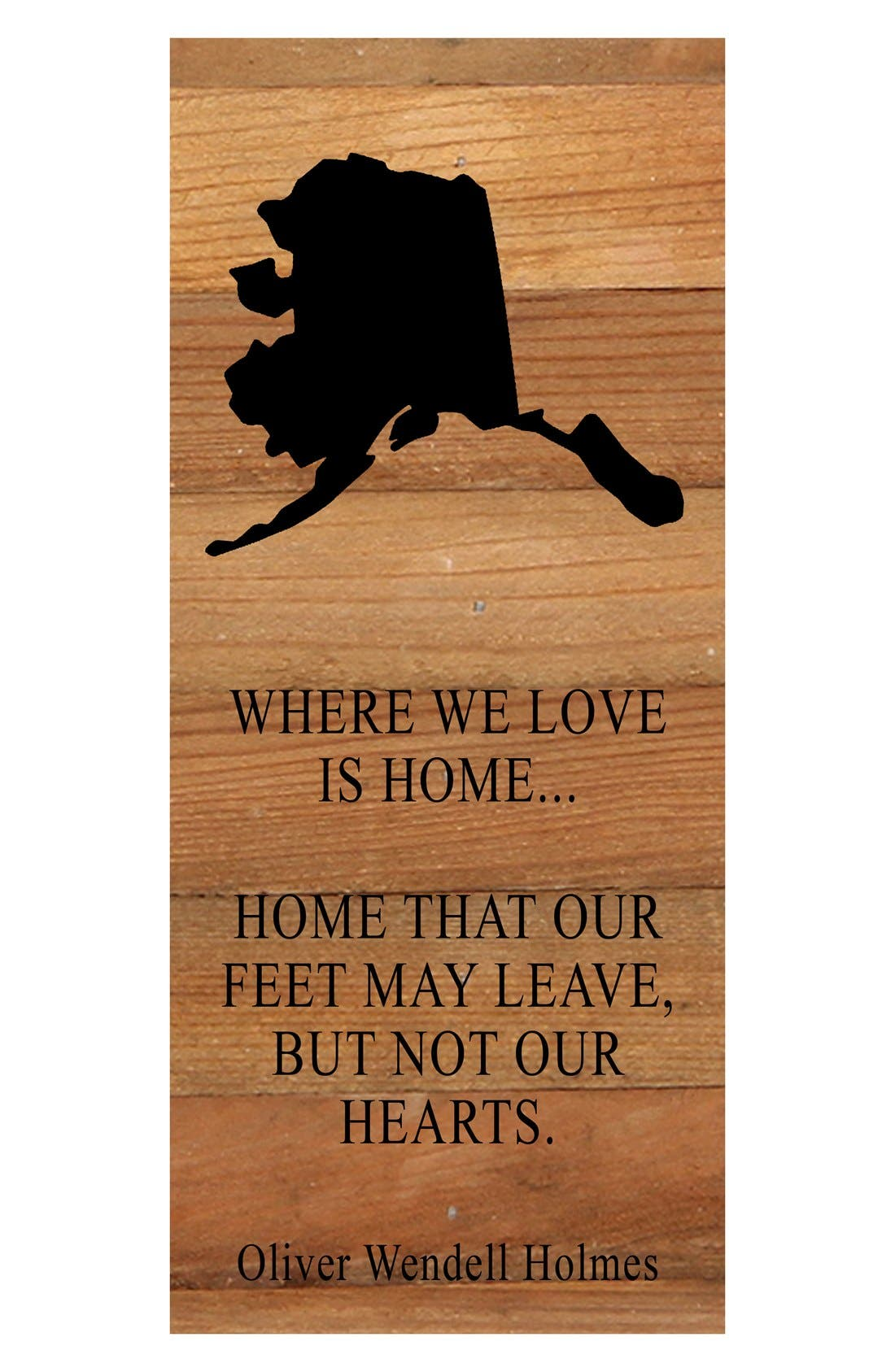 Second Nature 'Where We Love is Home' Reclaimed Wood Wall Art,                             Main thumbnail 1, color,                             200
