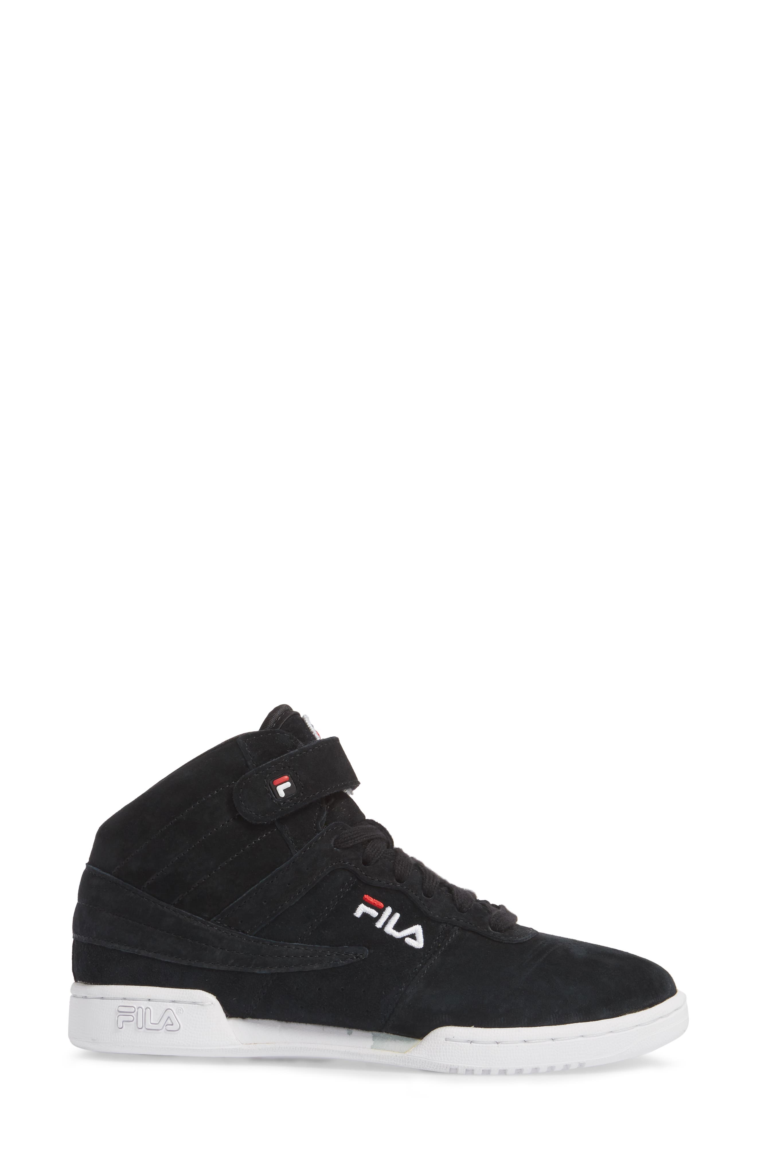 F-13 Premium Mid Top Sneaker,                             Alternate thumbnail 3, color,                             001