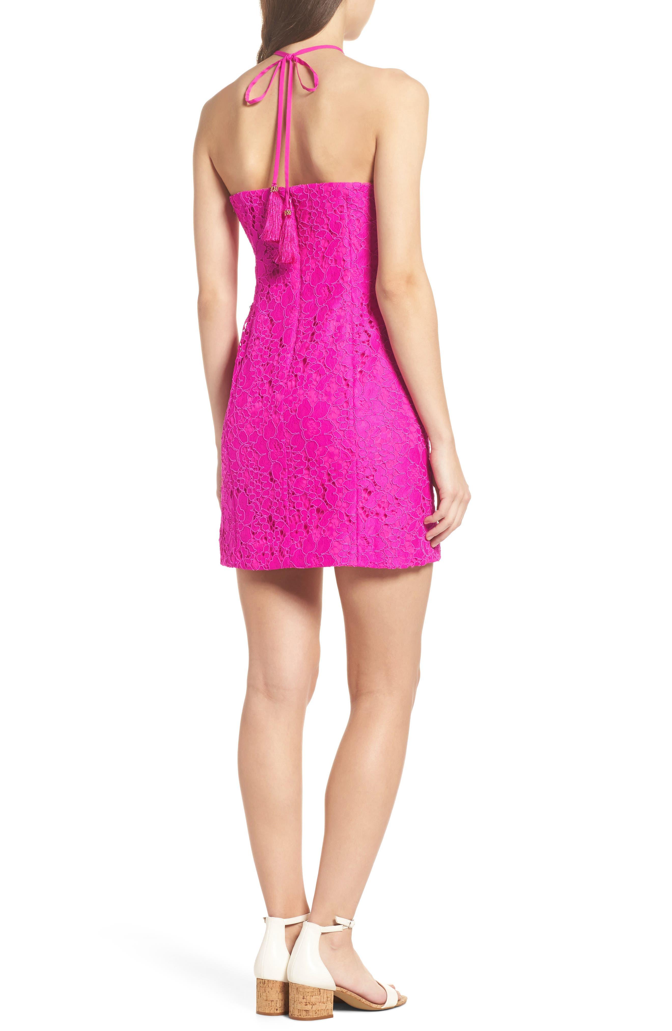 Demi Lace Dress,                             Alternate thumbnail 2, color,                             BERRY SANGRIA FLORAL LACE