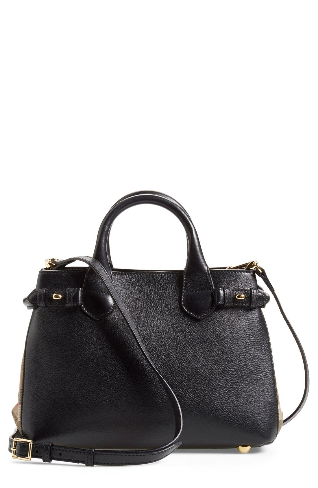 'Small Banner' Leather Tote,                             Alternate thumbnail 10, color,