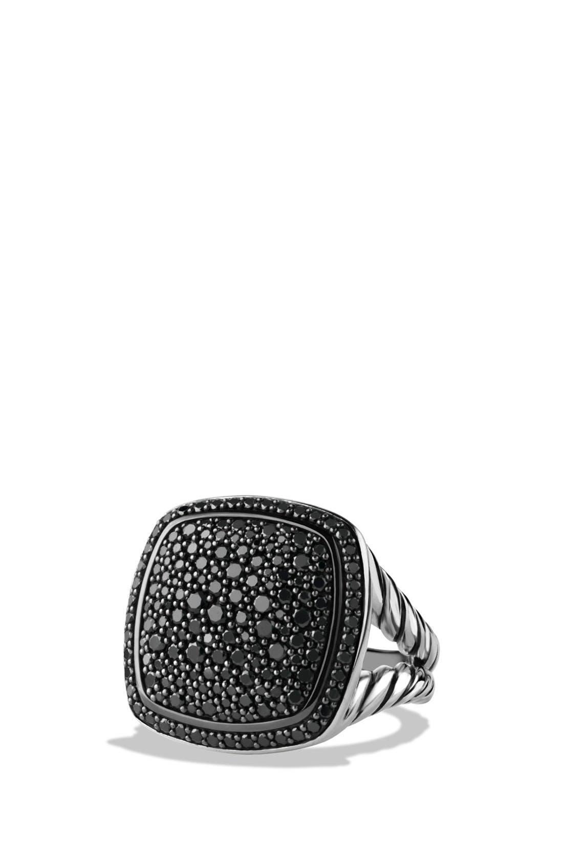 'Albion' Ring with Diamonds,                             Main thumbnail 1, color,                             BLACK DIAMOND