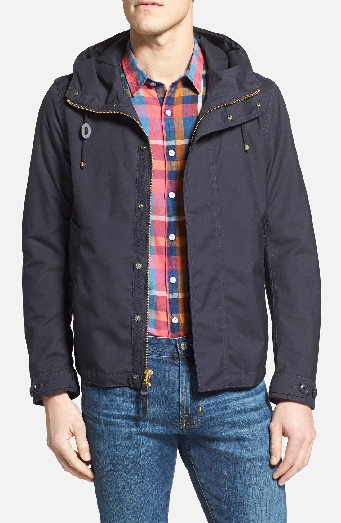 Woolrich 'Teton Rudder' Hooded Canvas Jacket, Main, color, 410