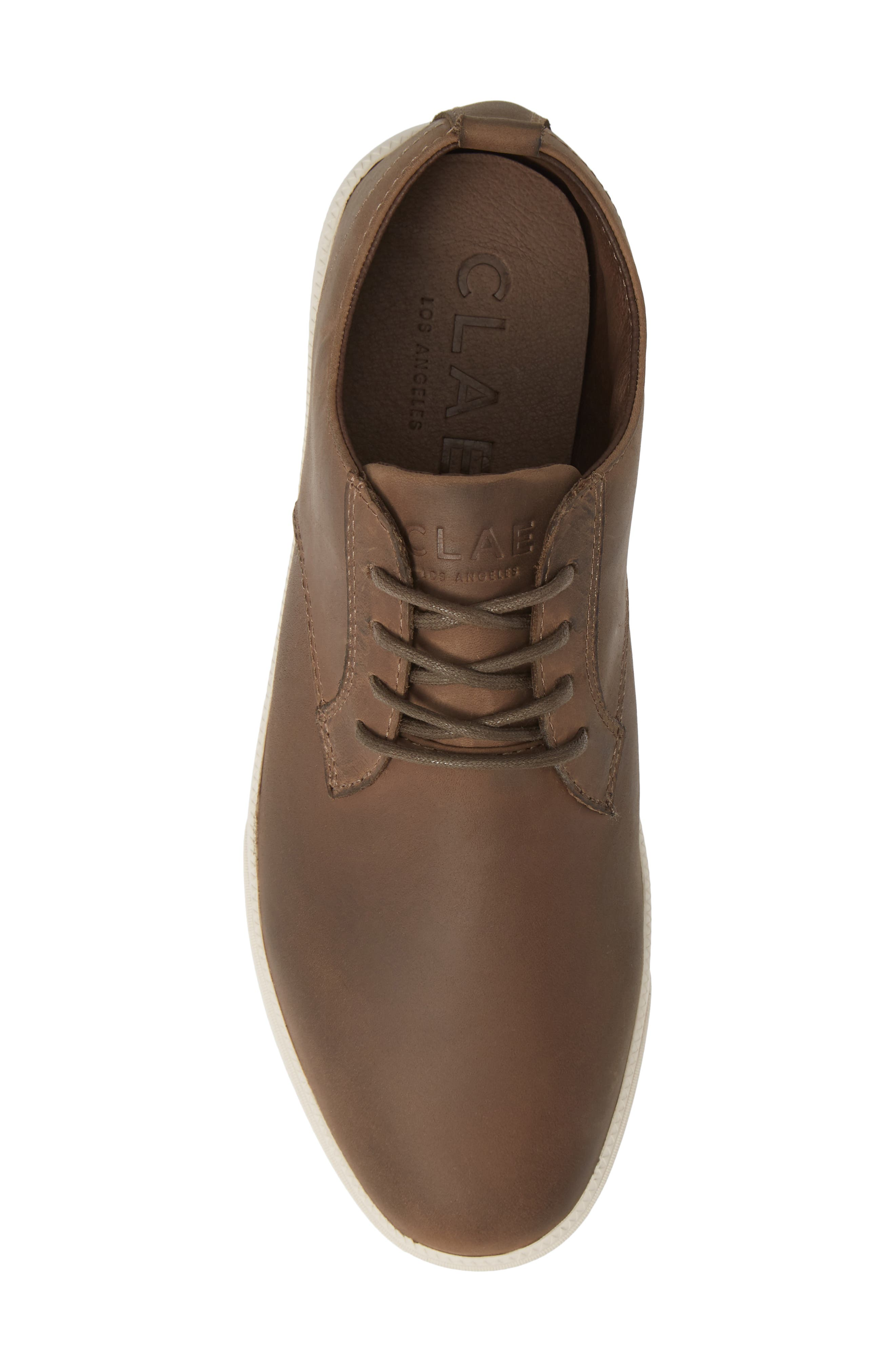 'Ellington' Sneaker,                             Alternate thumbnail 5, color,                             COFFEE FULL GRAIN LEATHER