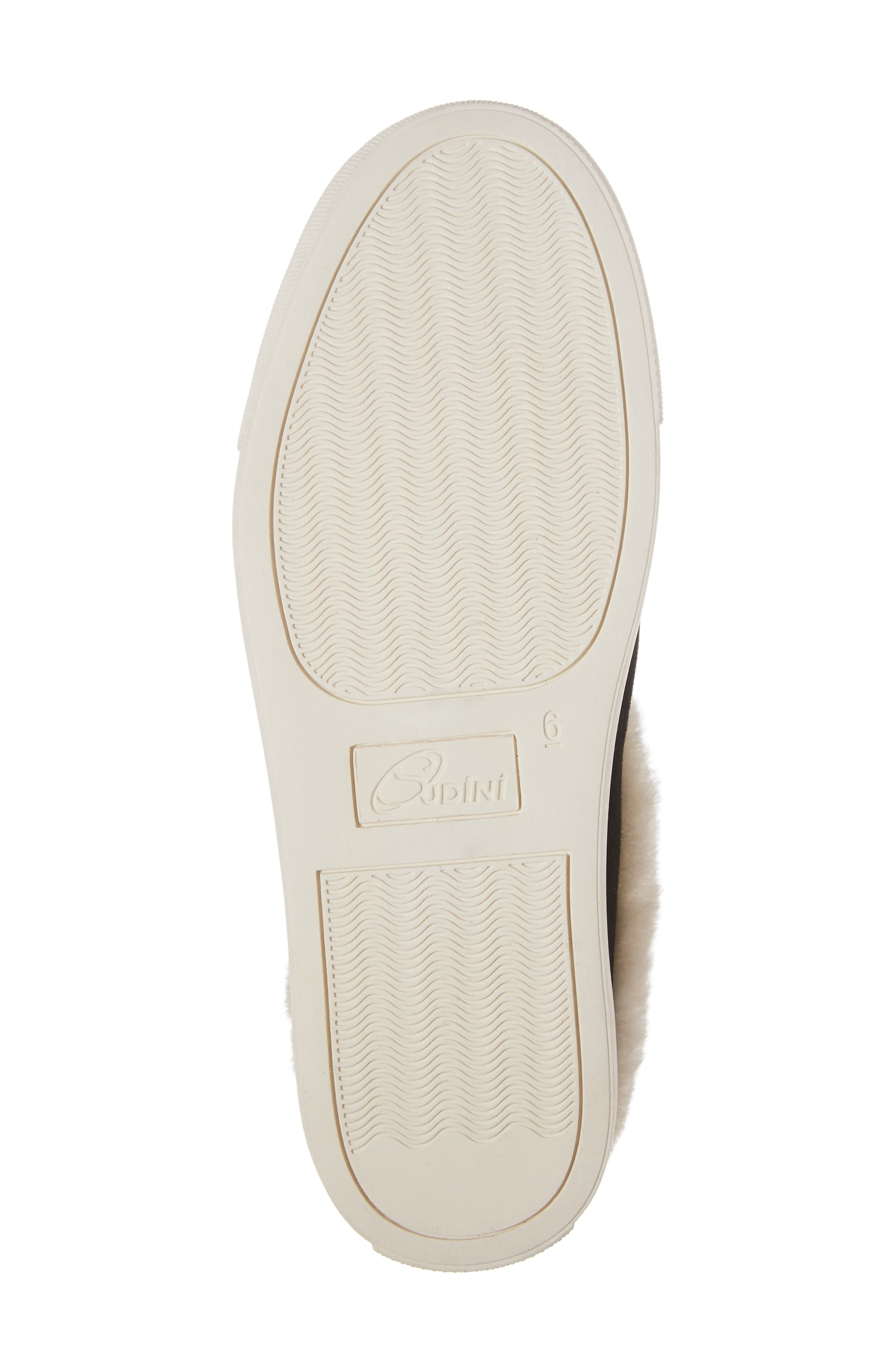 Leia Genuine Shearling Lined Slip-On,                             Alternate thumbnail 6, color,                             001