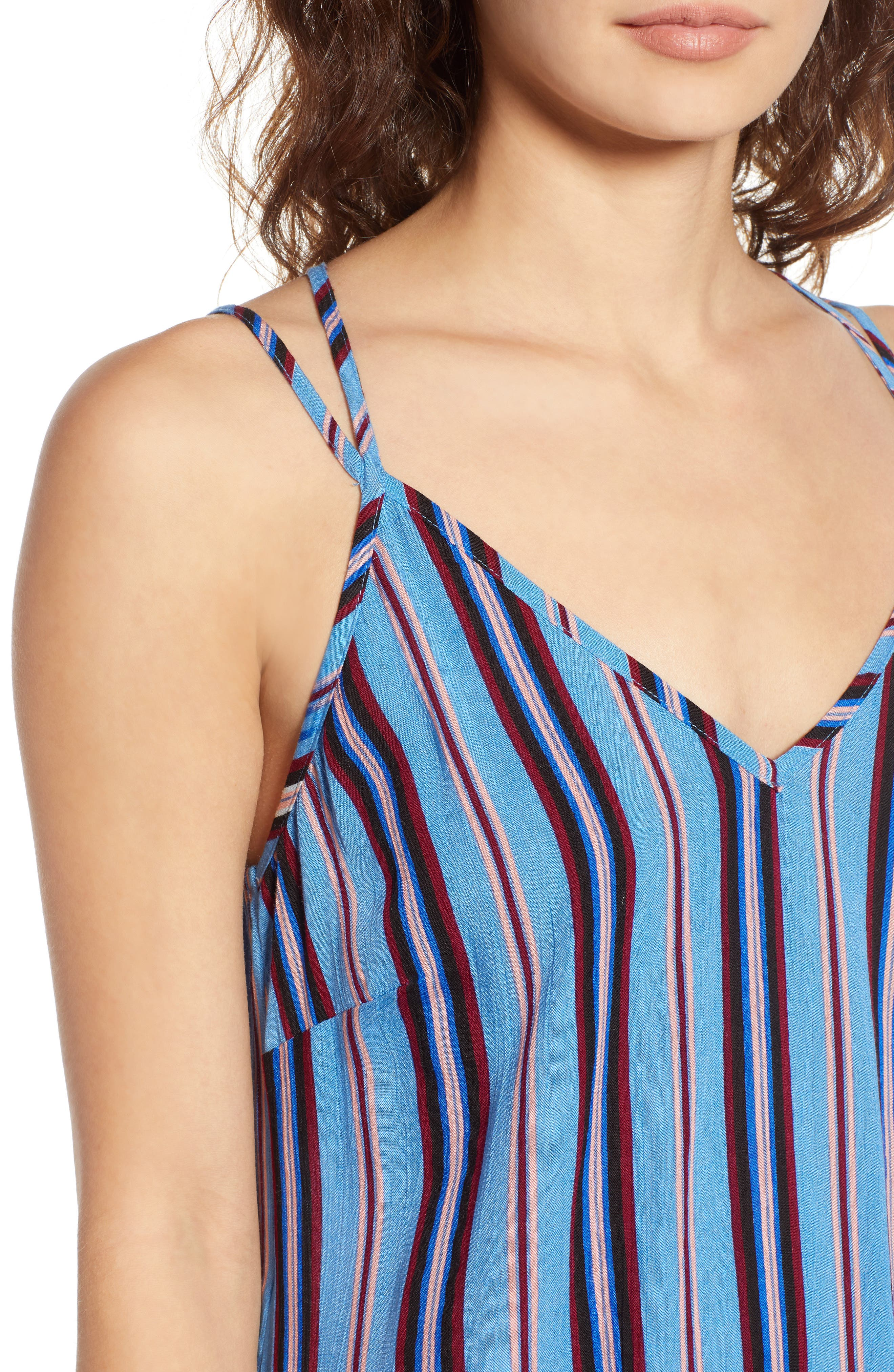 Selena Handkerchief Hem Slip Dress,                             Alternate thumbnail 4, color,                             500