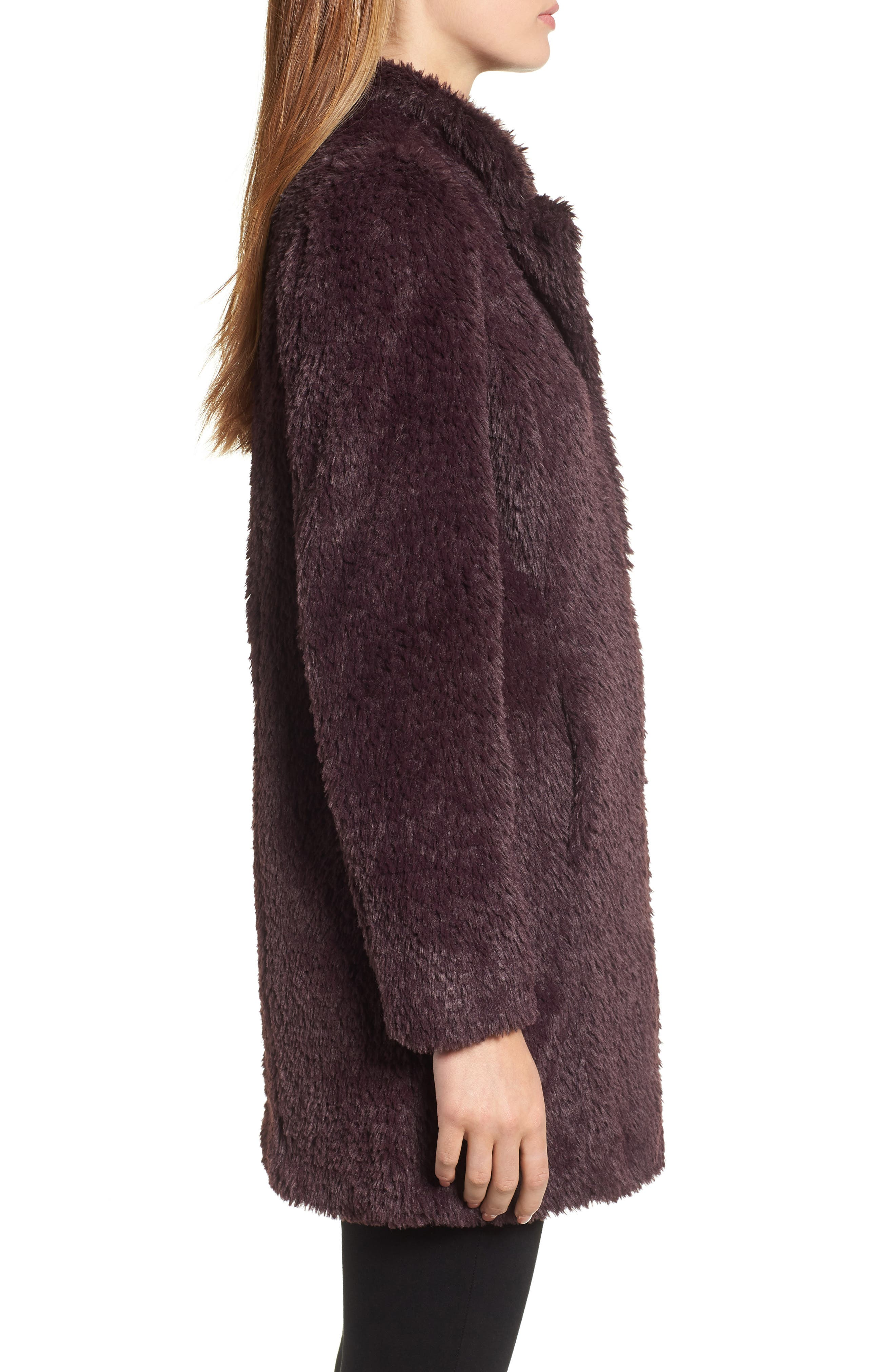 Faux Fur Jacket,                             Alternate thumbnail 16, color,