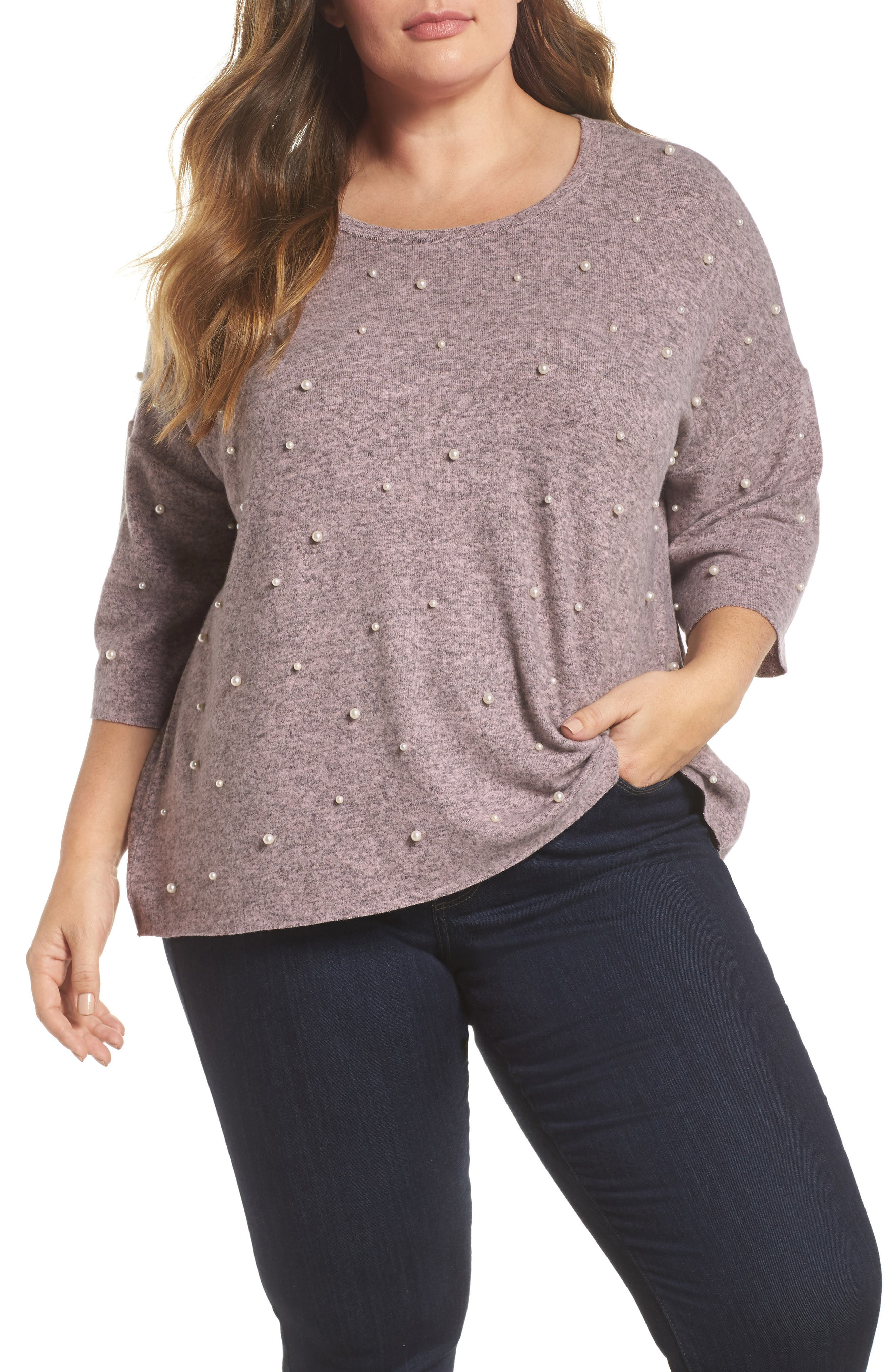 Pearl Embellished Sweater,                         Main,                         color, 020