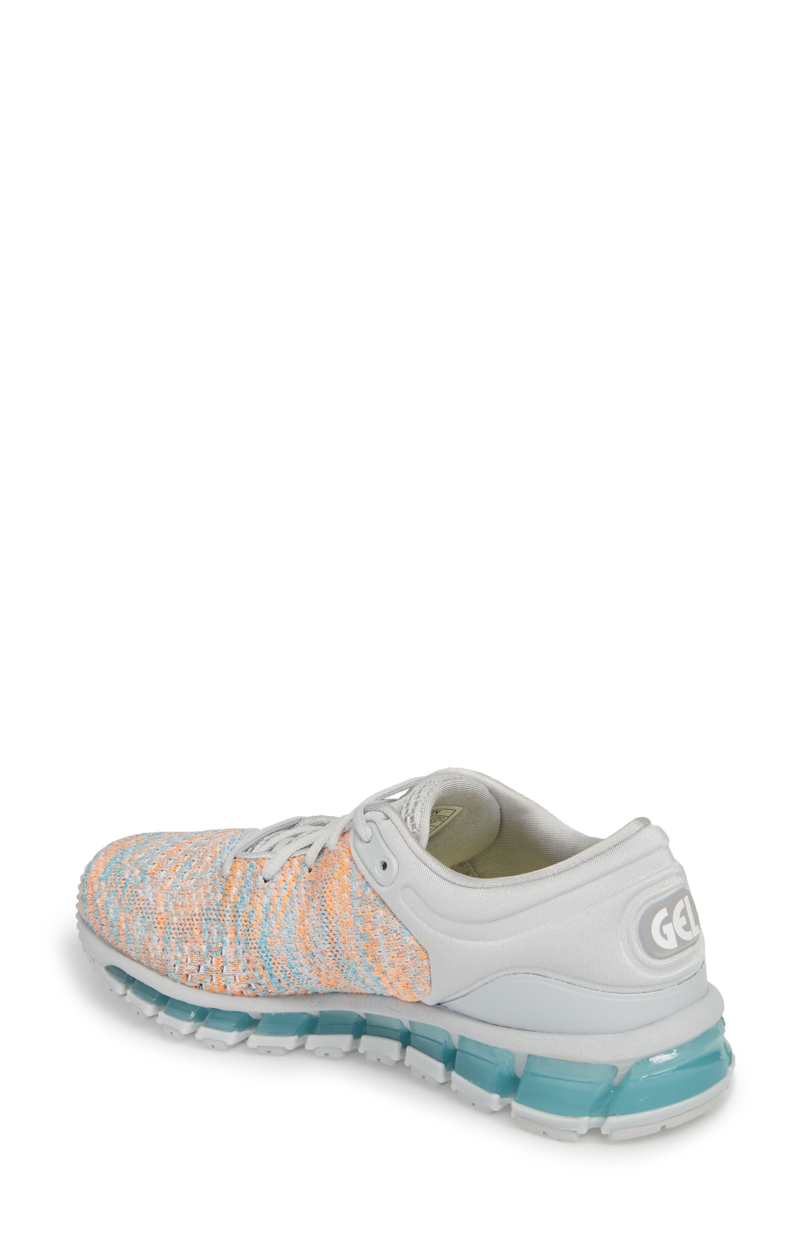 GEL-Quantum 360 Running Shoe,                             Alternate thumbnail 2, color,                             GLACIER GREY/ ORANGE POP/ BLUE