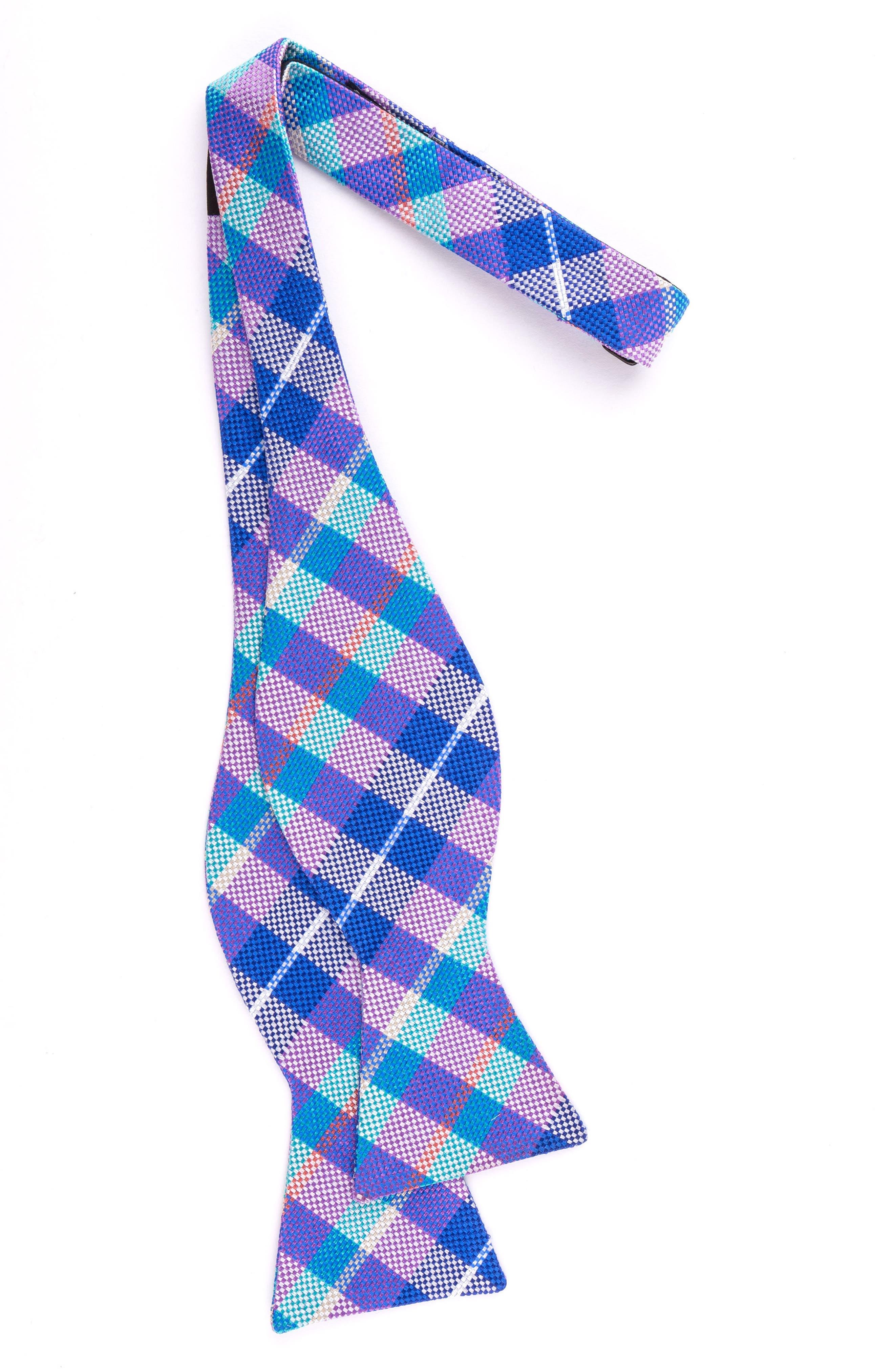Plaid Silk Bow Tie,                             Alternate thumbnail 4, color,
