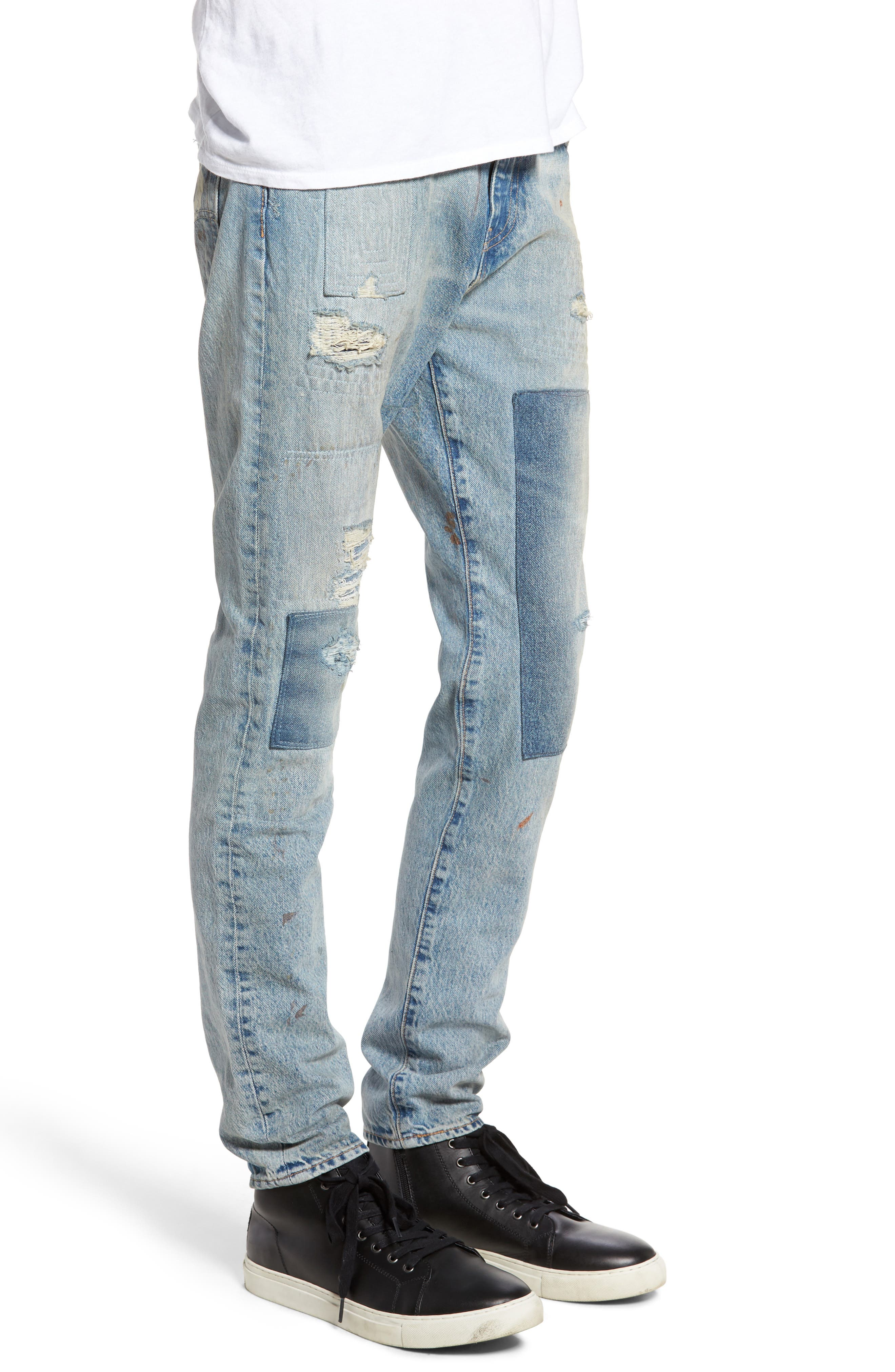 512 Slouchy Skinny Fit Jeans,                             Alternate thumbnail 3, color,                             423