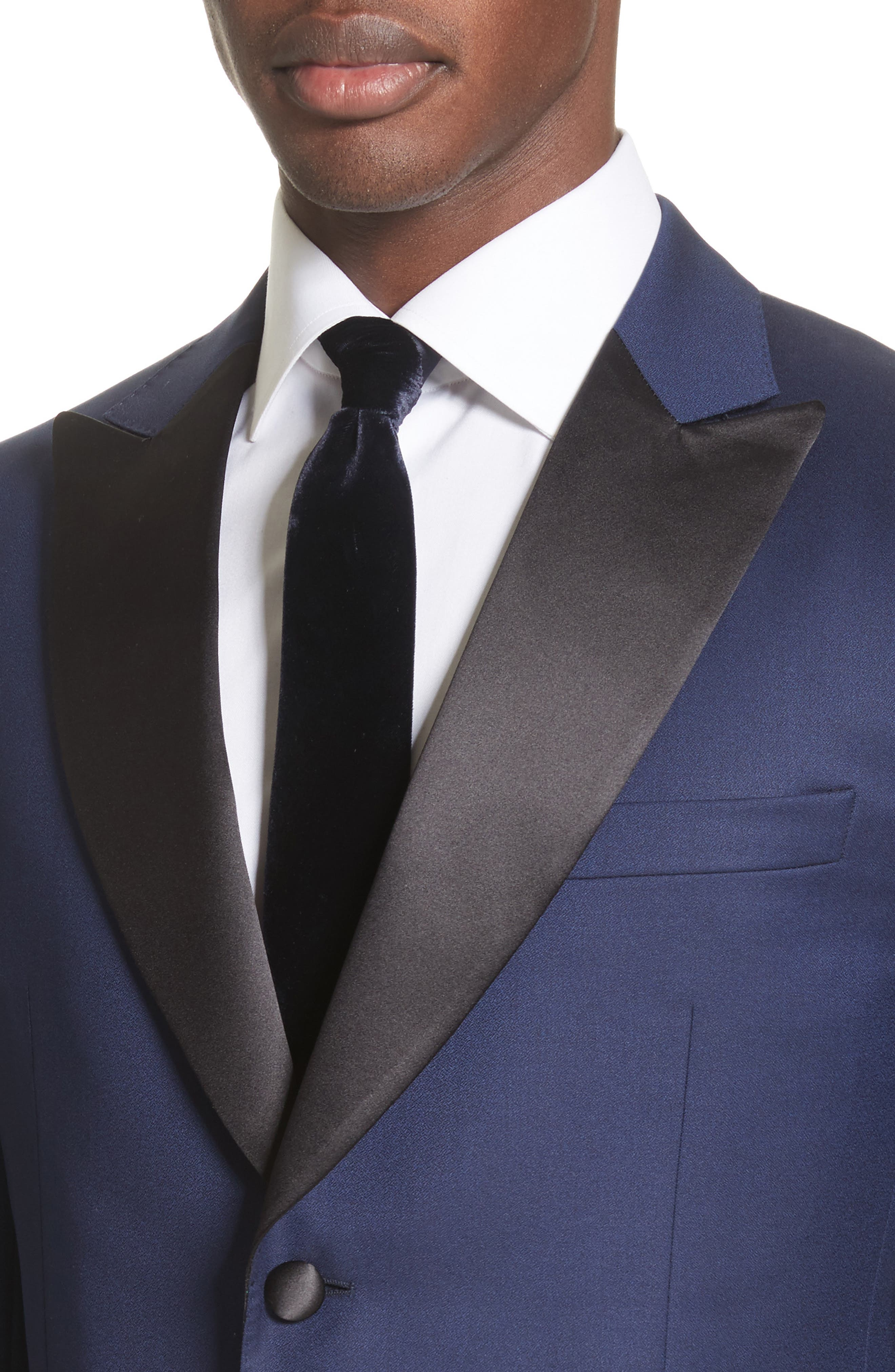 Slim Fit Wool Tuxedo,                             Alternate thumbnail 4, color,                             412
