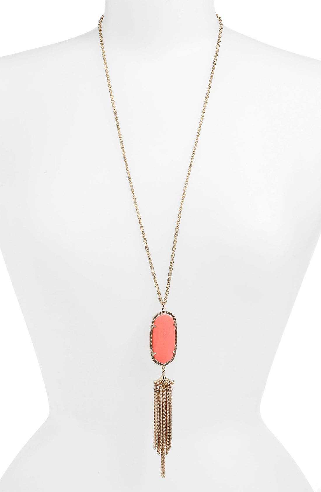 Rayne Stone Tassel Pendant Necklace,                             Main thumbnail 76, color,