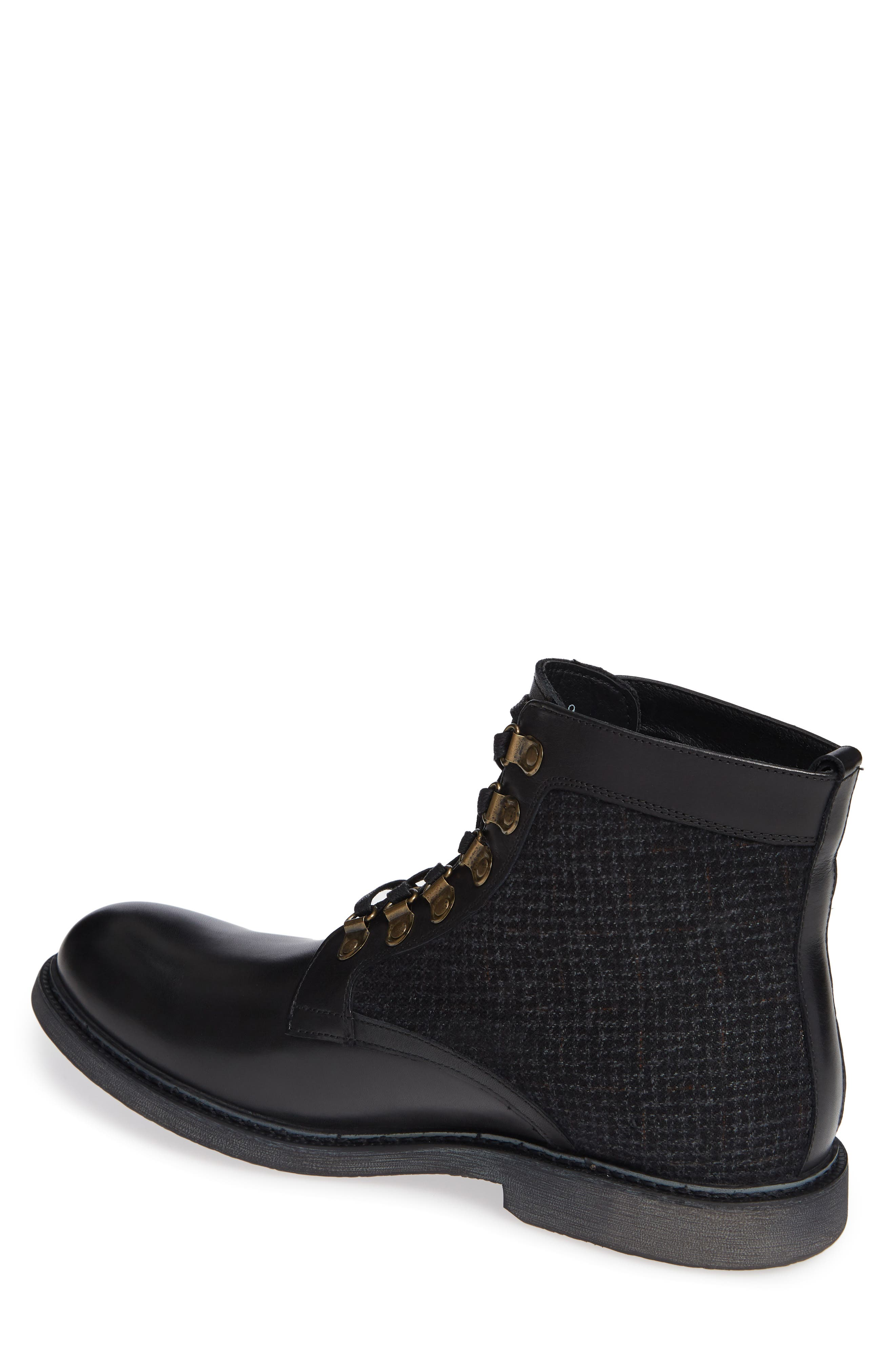 Bradford Textured Suede Boot,                             Alternate thumbnail 2, color,                             BLACK