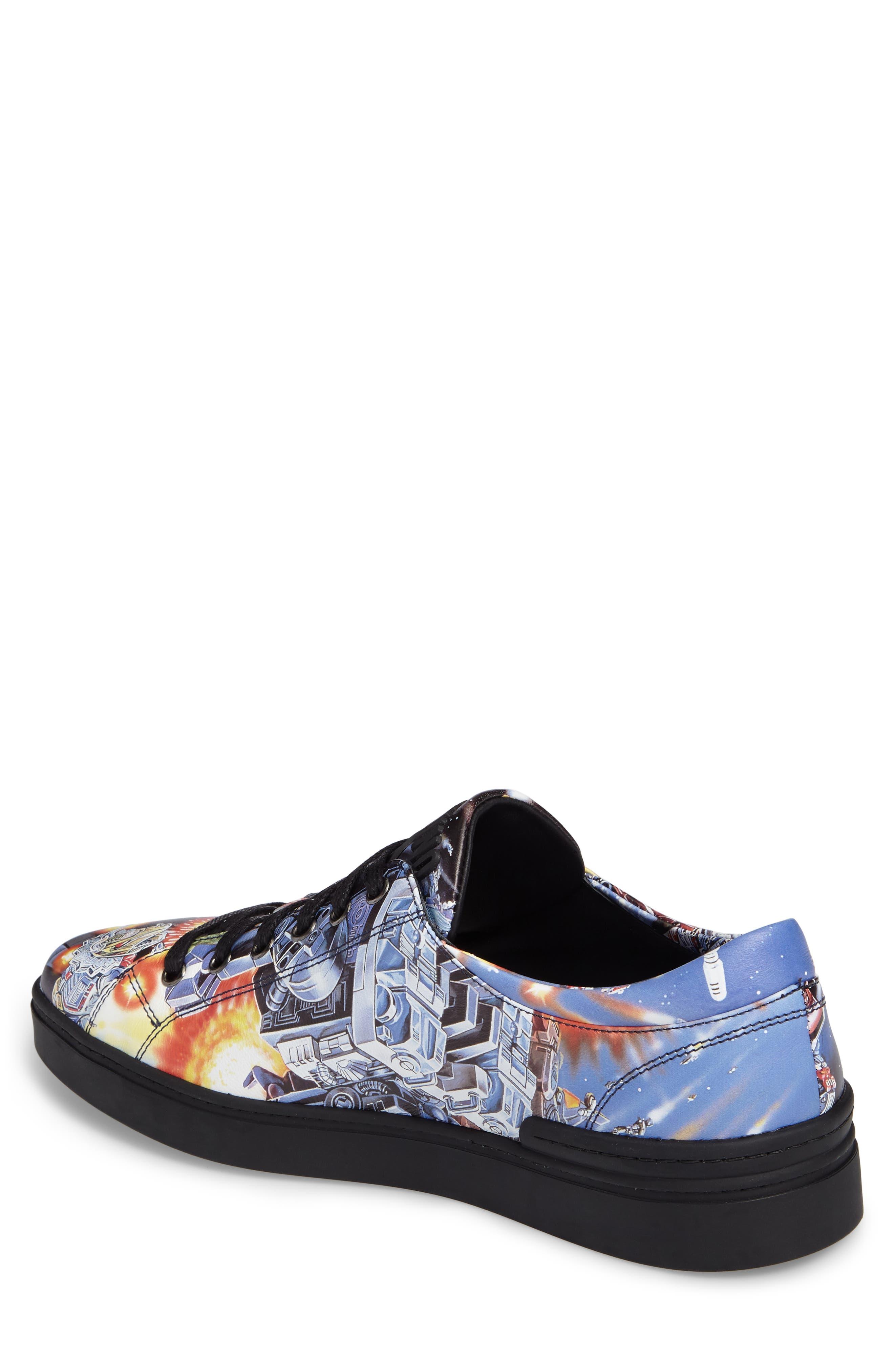 Transformers Print Low Top Sneaker,                             Alternate thumbnail 2, color,                             004
