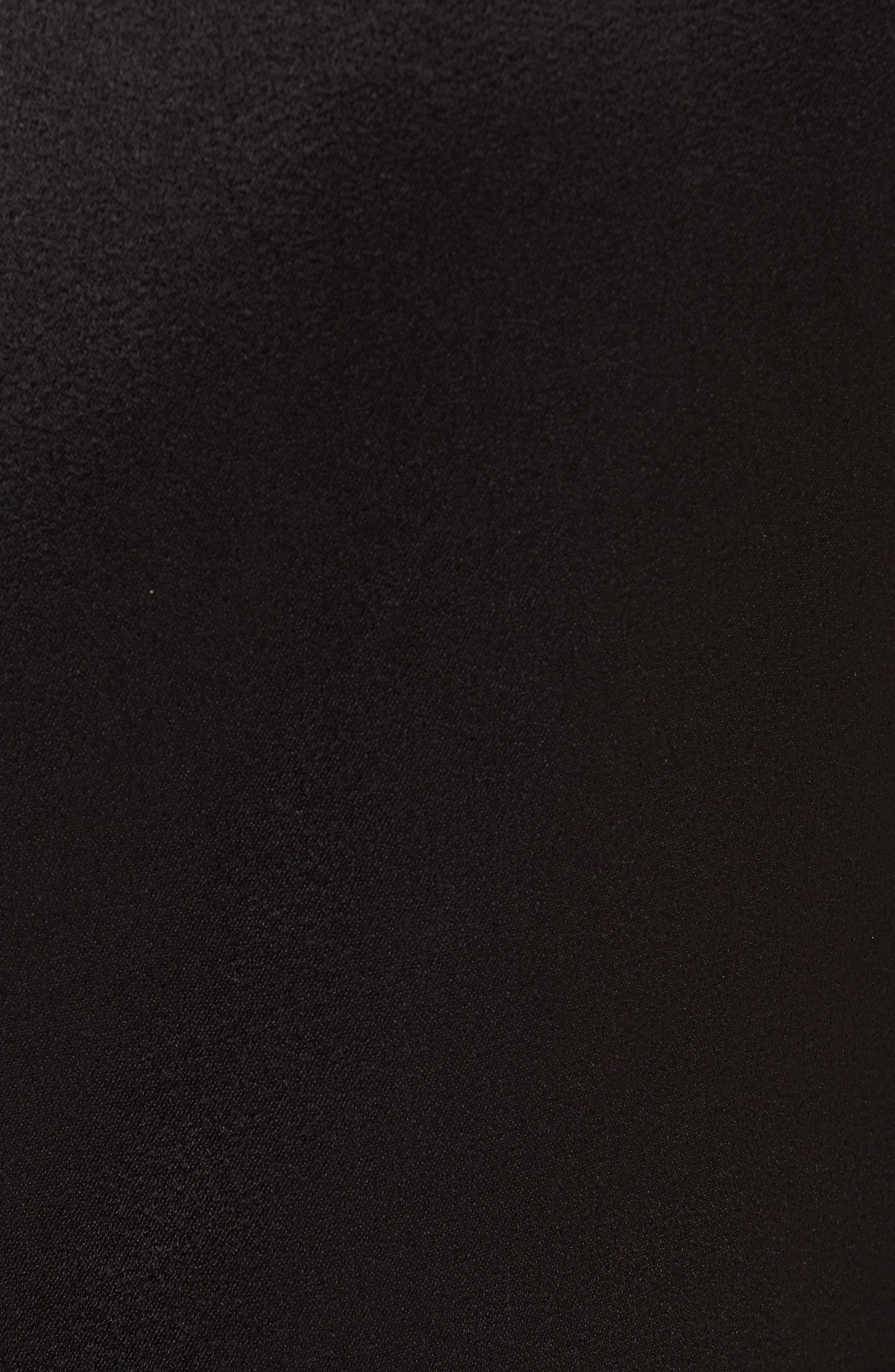 ALICE + OLIVIA,                             Coley A-Line Shift Dress,                             Alternate thumbnail 6, color,                             BLACK