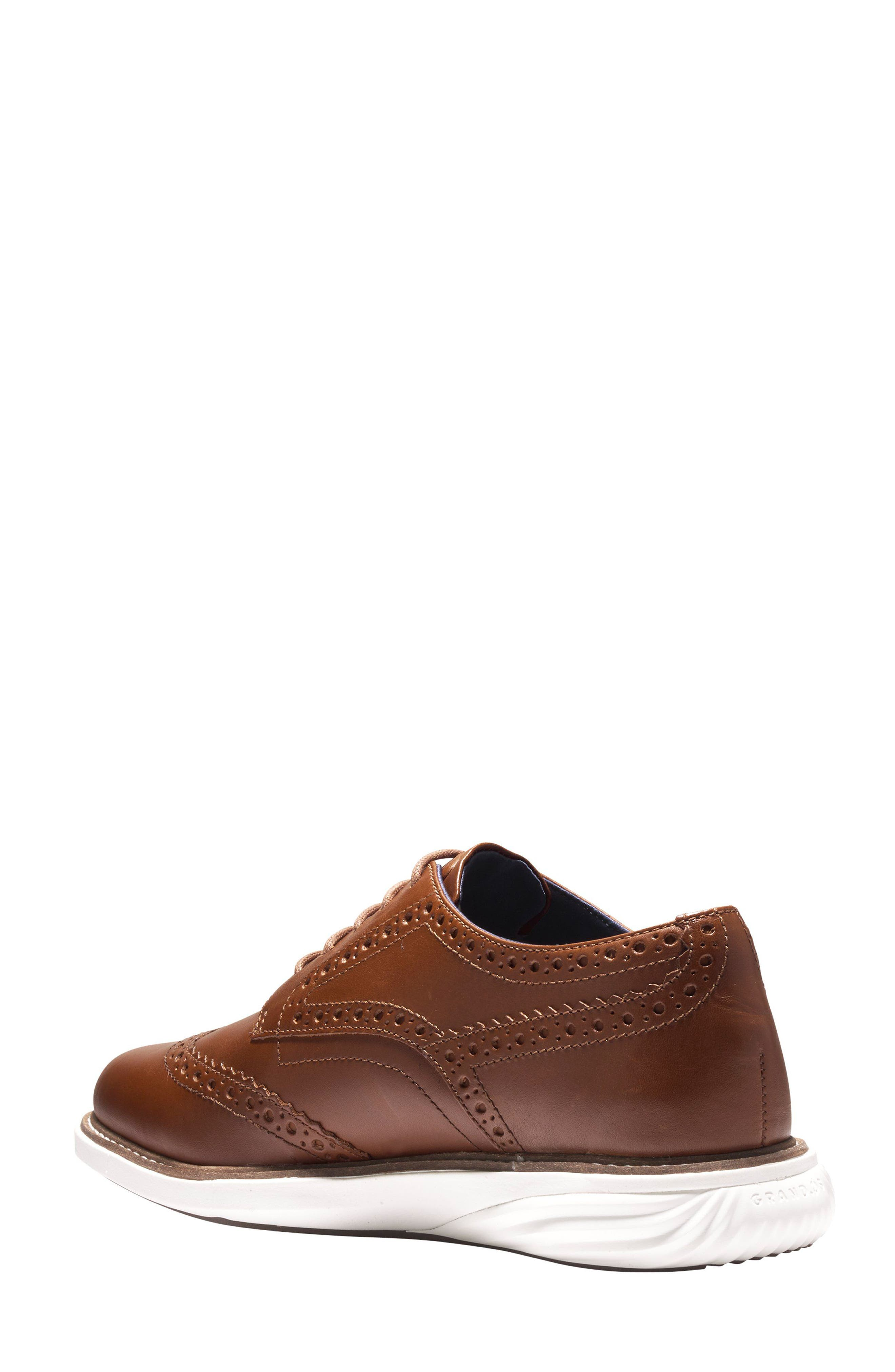 Grandevolution Shortwing Oxford Sneaker,                             Alternate thumbnail 2, color,                             WOODBURY LEATHER