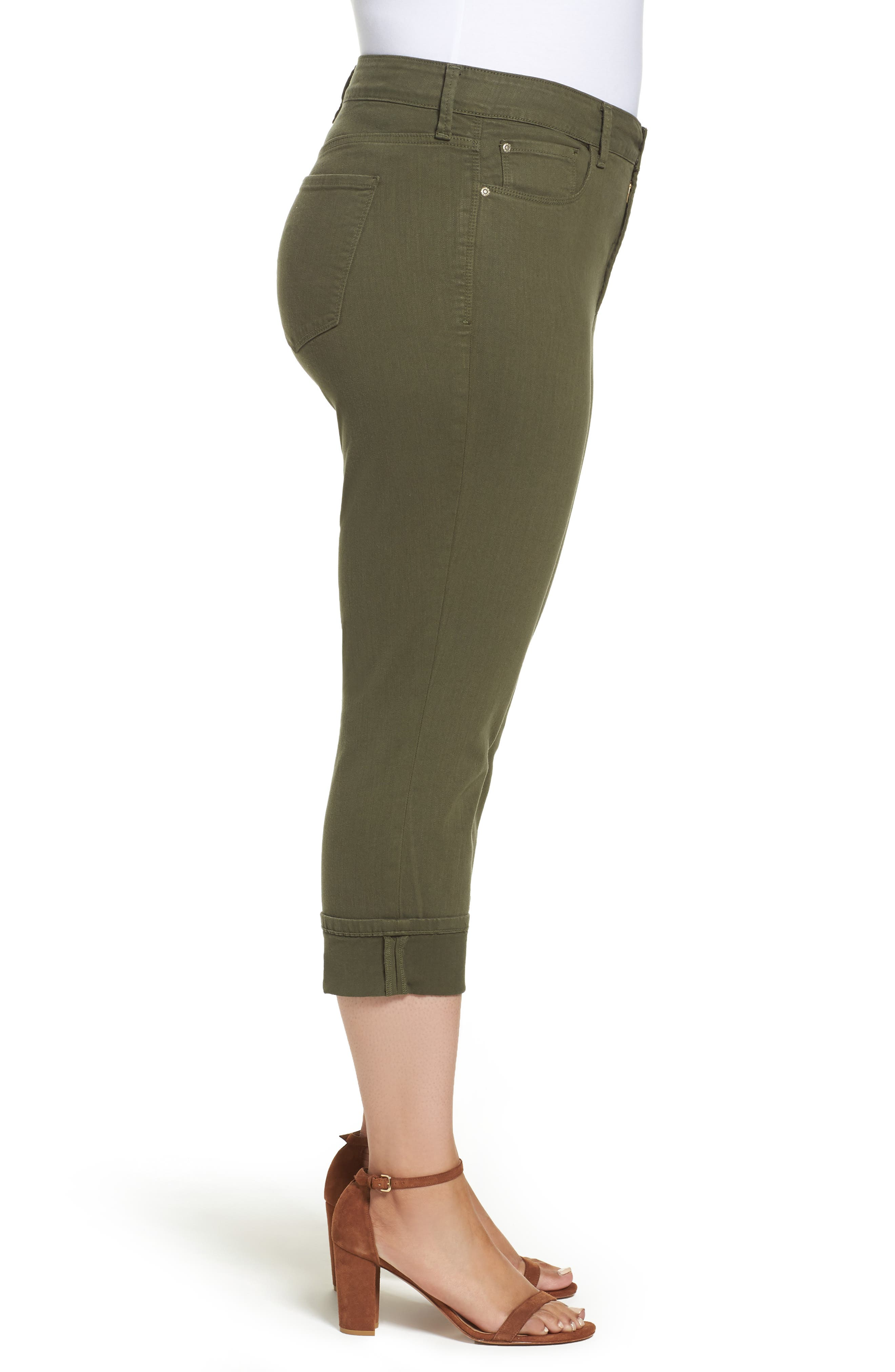Dayla Colored Wide Cuff Capri Jeans,                             Alternate thumbnail 6, color,