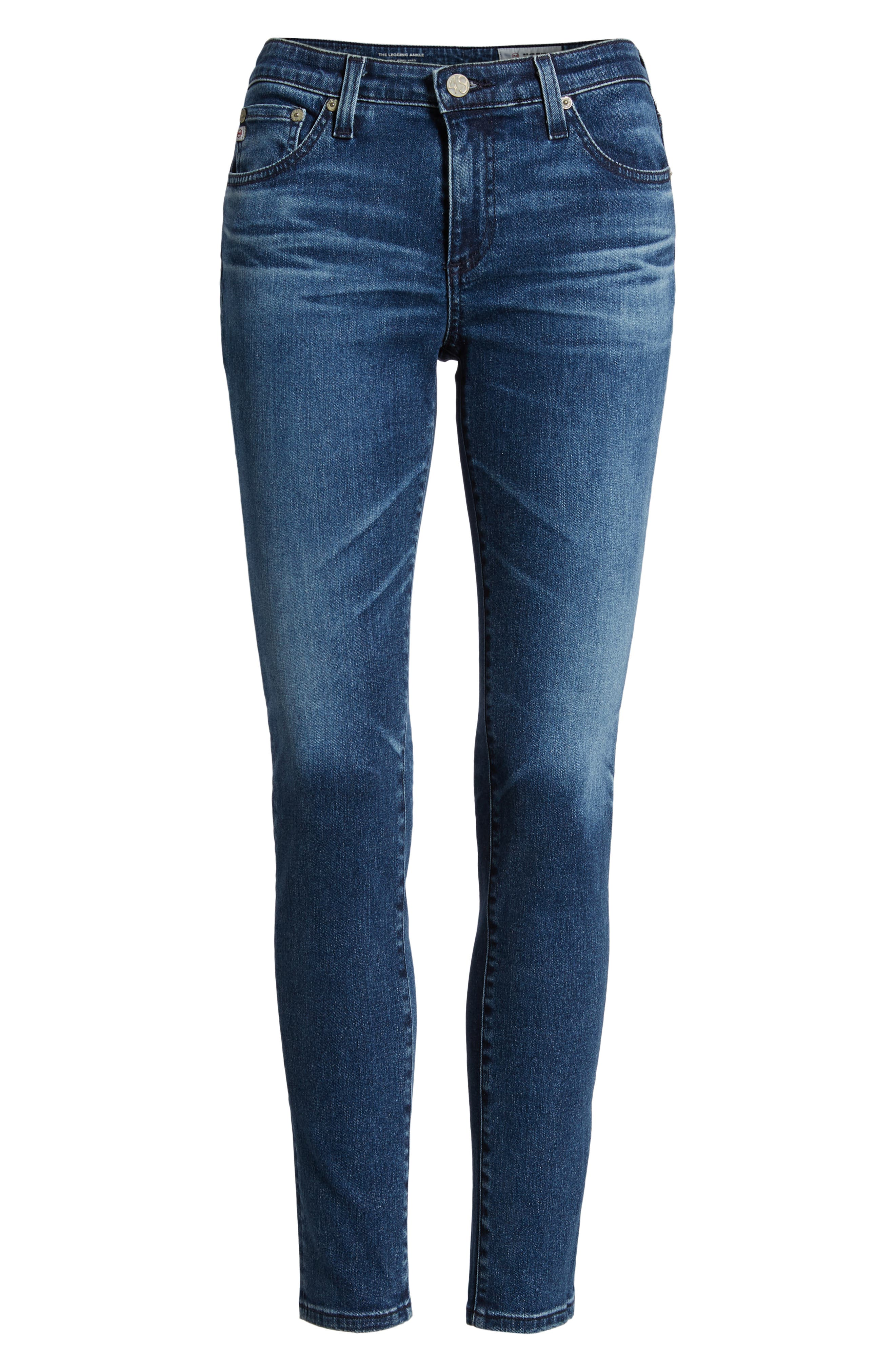 AG,                             The Legging Ankle Super Skinny Jeans,                             Alternate thumbnail 7, color,                             401