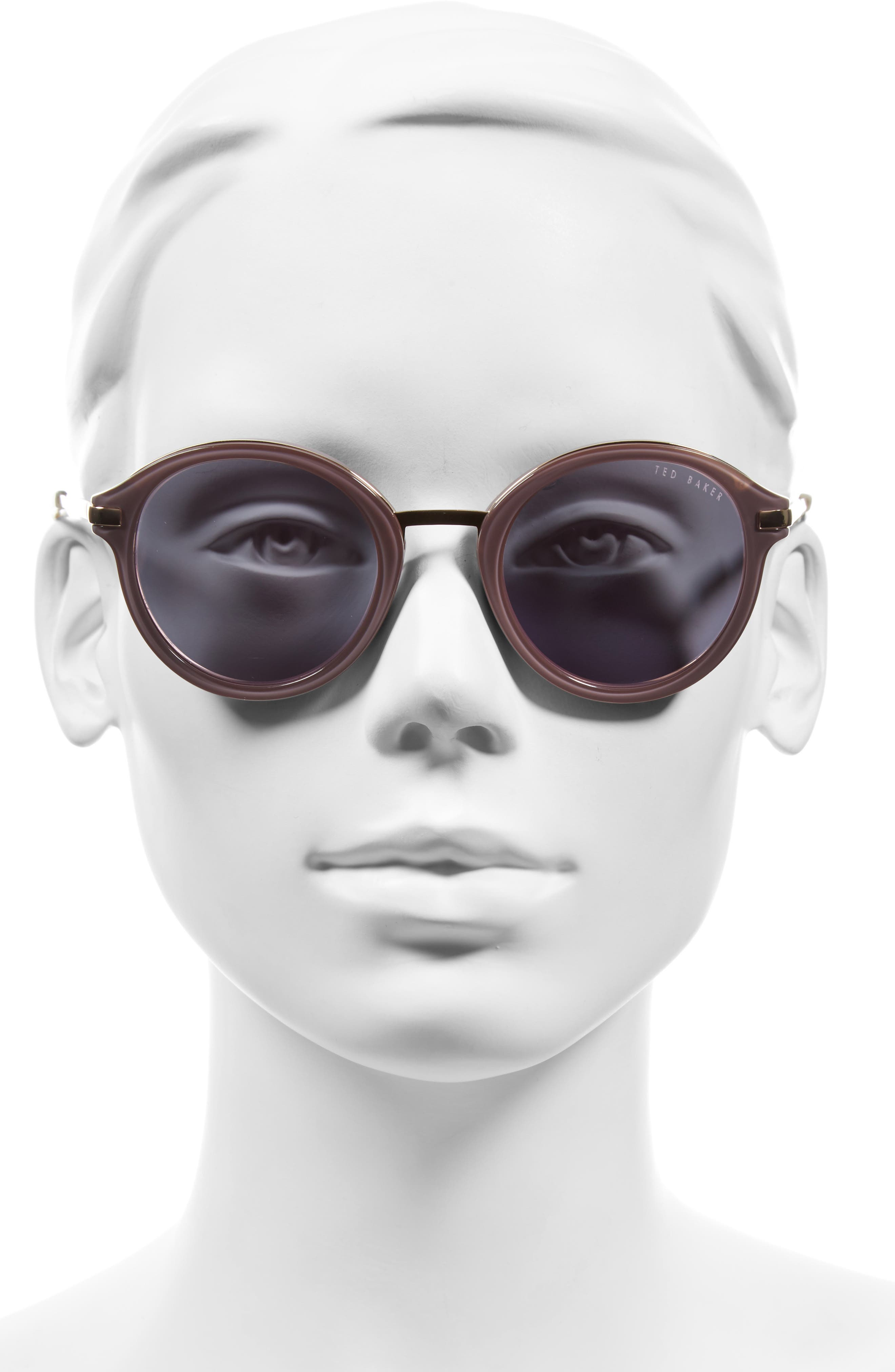 49mm Round Sunglasses,                             Alternate thumbnail 5, color,