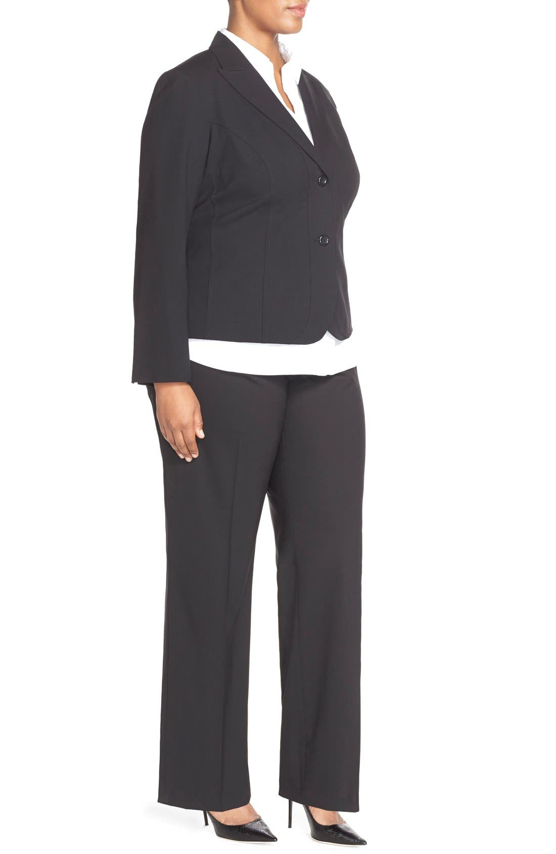 'Gladstone' Stretch Wool Jacket,                             Alternate thumbnail 3, color,                             001