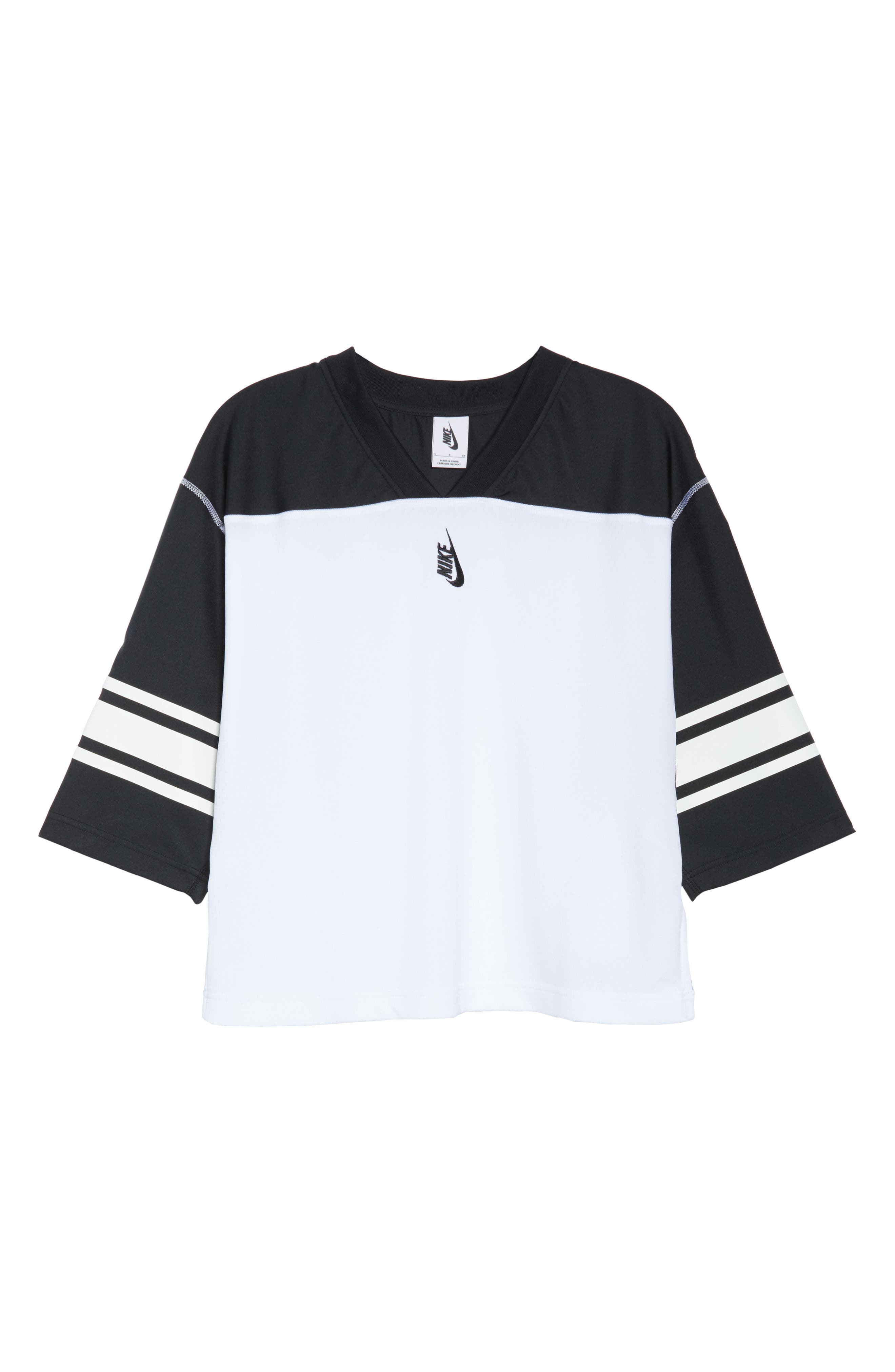 NikeLab Collection Football Top,                             Alternate thumbnail 7, color,                             BLACK/ WHITE/ BLACK