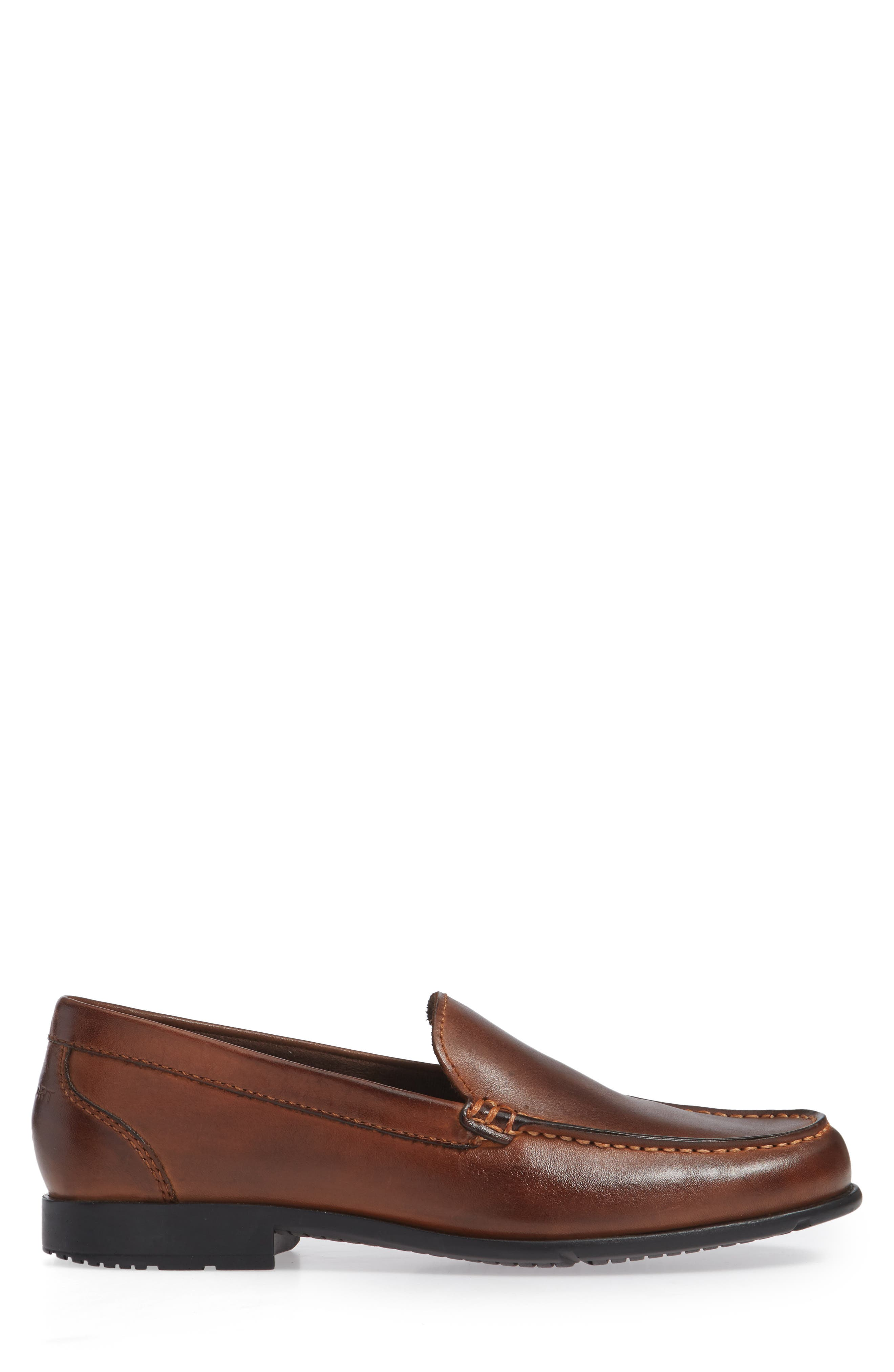 Classic Venetian Loafer,                             Alternate thumbnail 3, color,                             DARK BROWN LEATHER