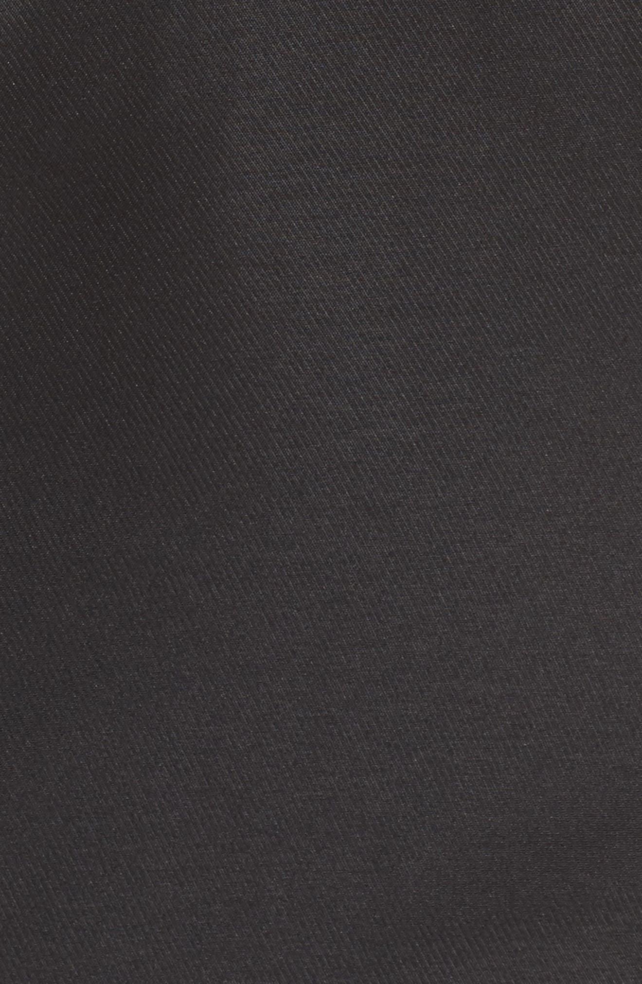 Be My Baby Halter Sheath Dress,                             Alternate thumbnail 6, color,                             BLACK