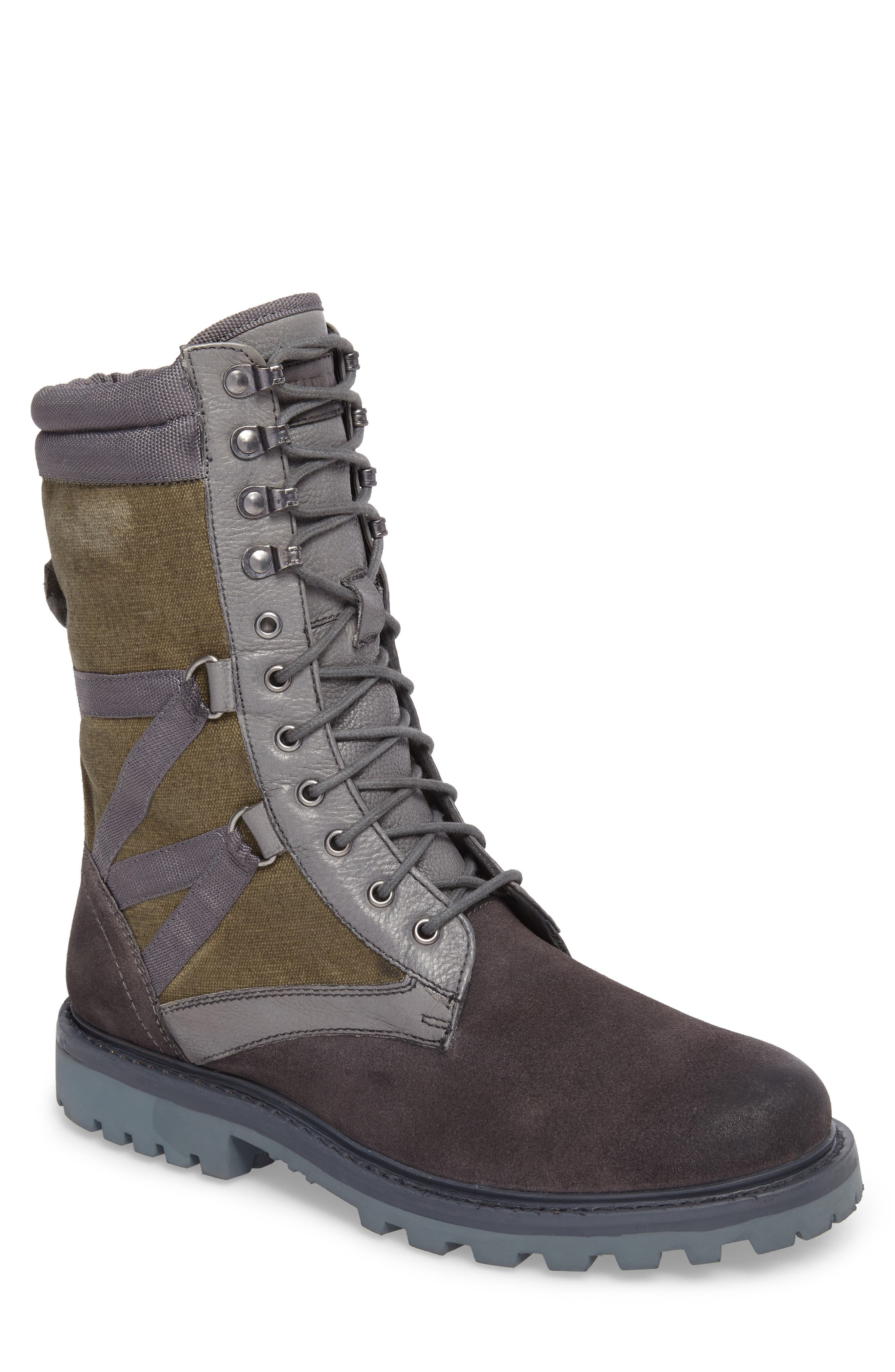 Combat Ultra Force Boot,                             Main thumbnail 1, color,                             GREY SUEDE