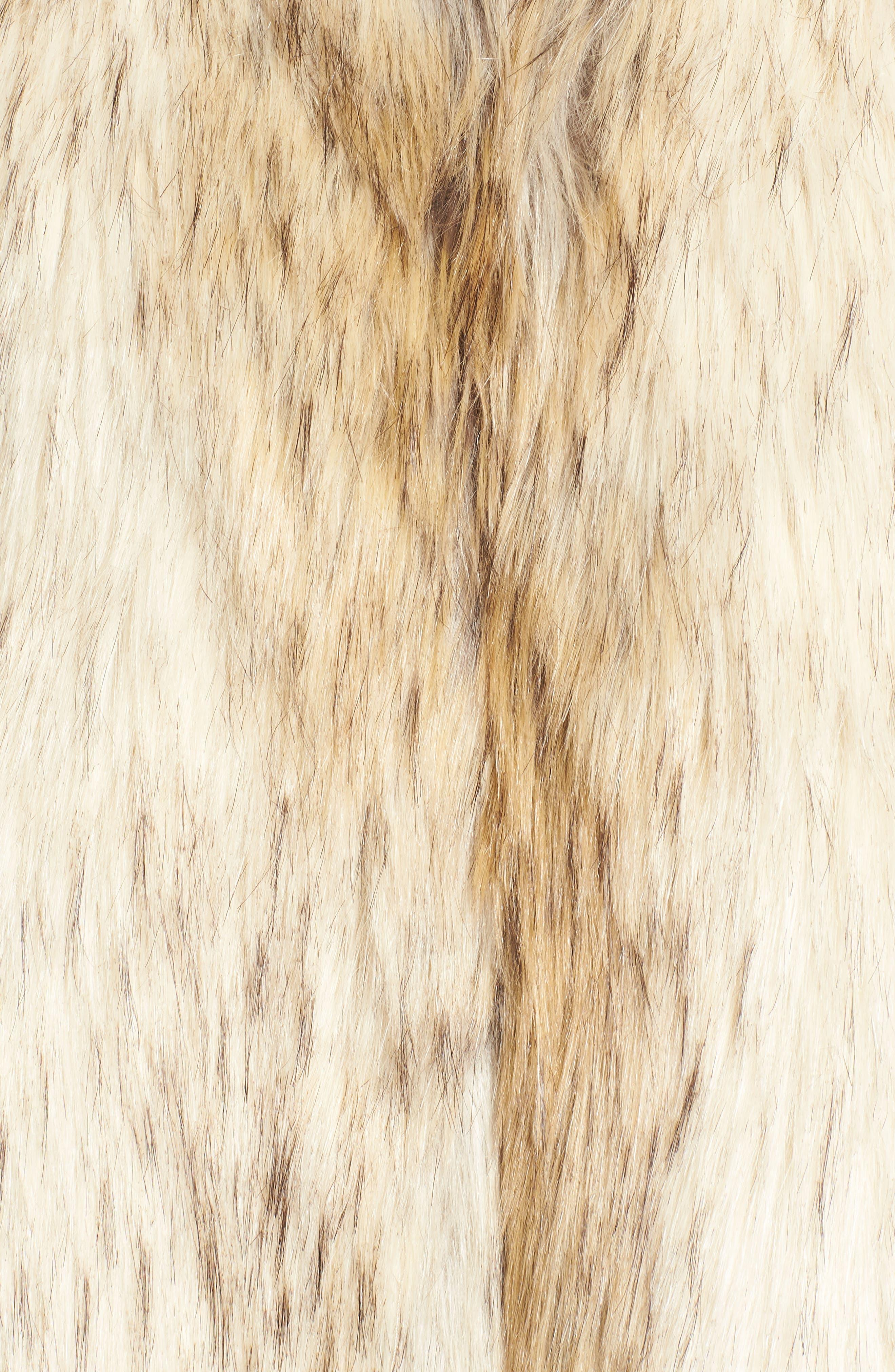 Elvan Open Front Faux Fur Vest,                             Alternate thumbnail 6, color,                             152