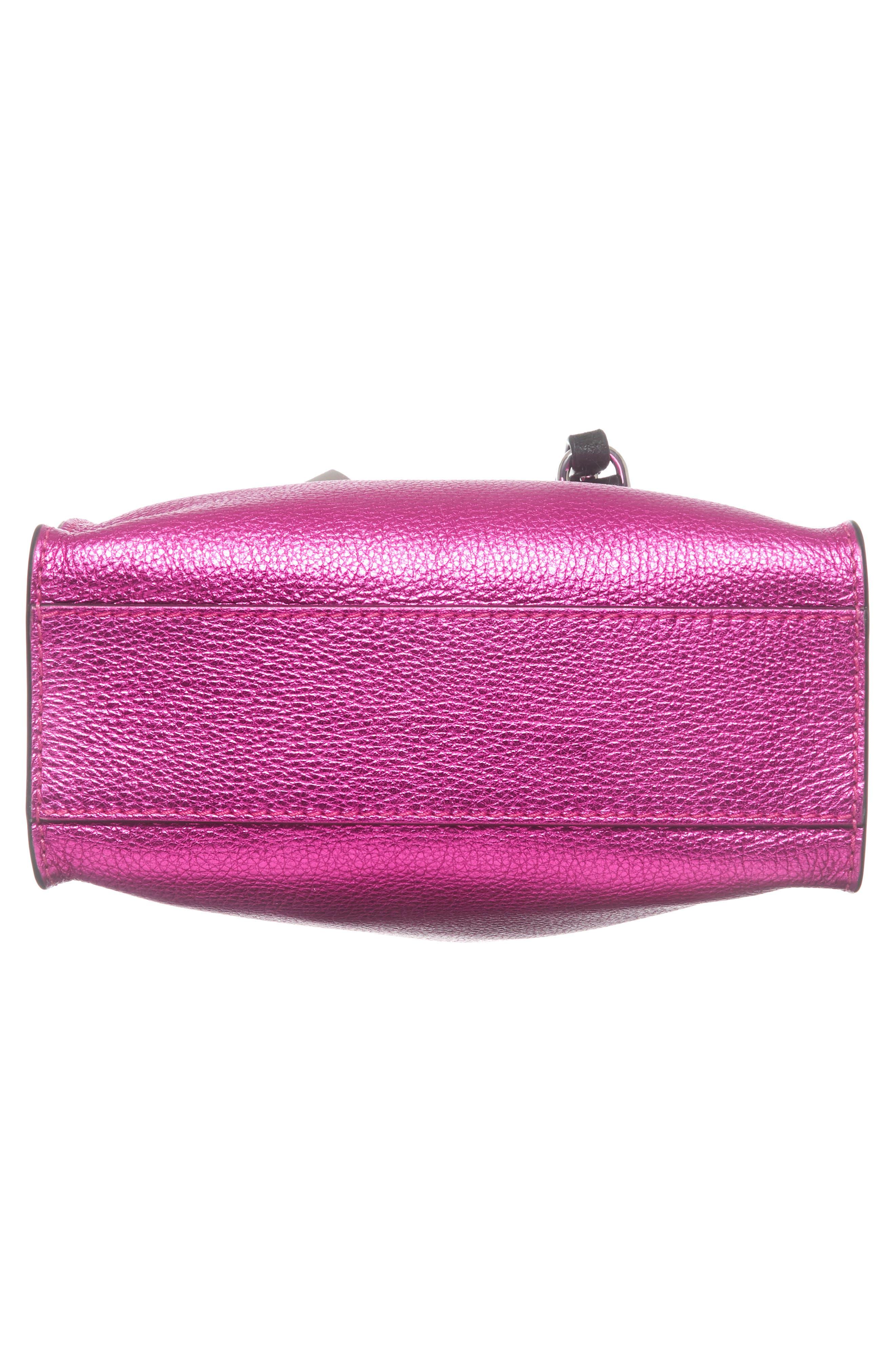 Mini The Grind Metallic Leather Tote,                             Alternate thumbnail 6, color,                             678