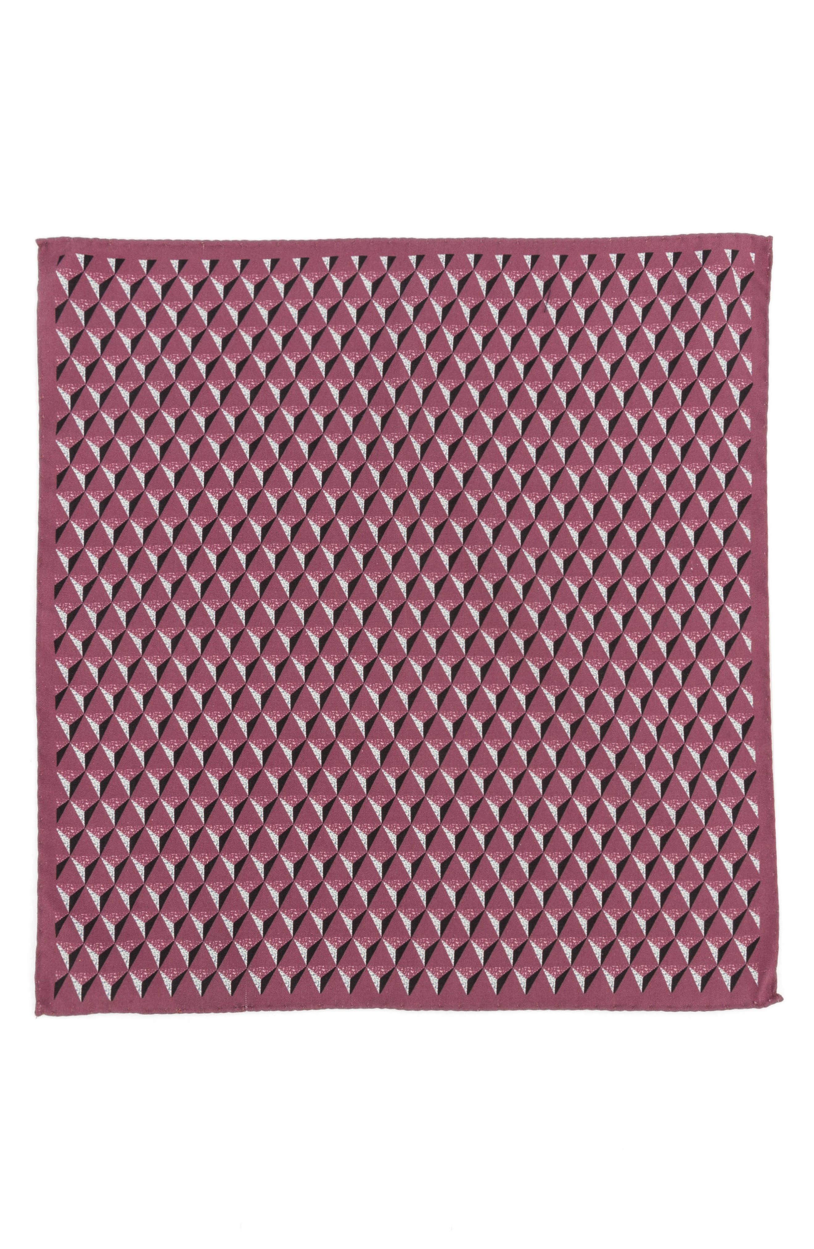 Geometric Silk Pocket Square,                             Alternate thumbnail 12, color,