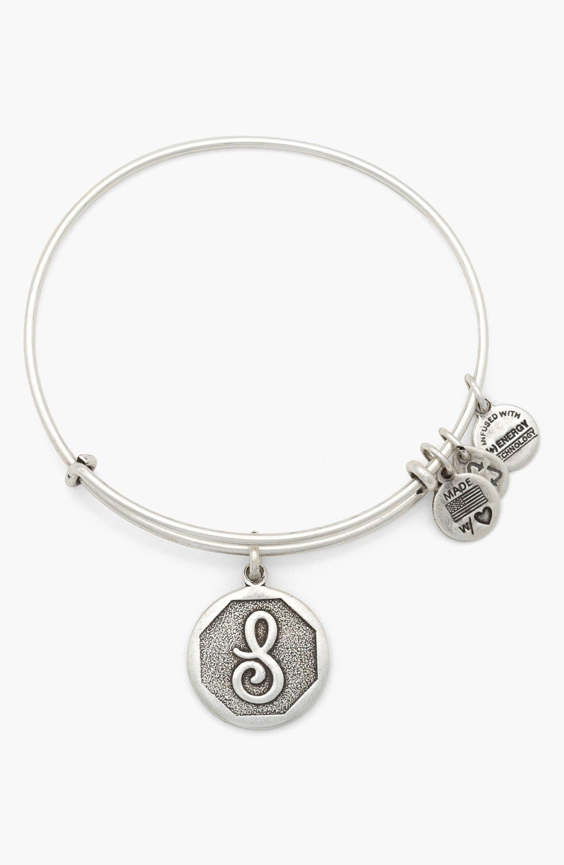 'Initial' Adjustable Wire Bangle,                             Main thumbnail 19, color,