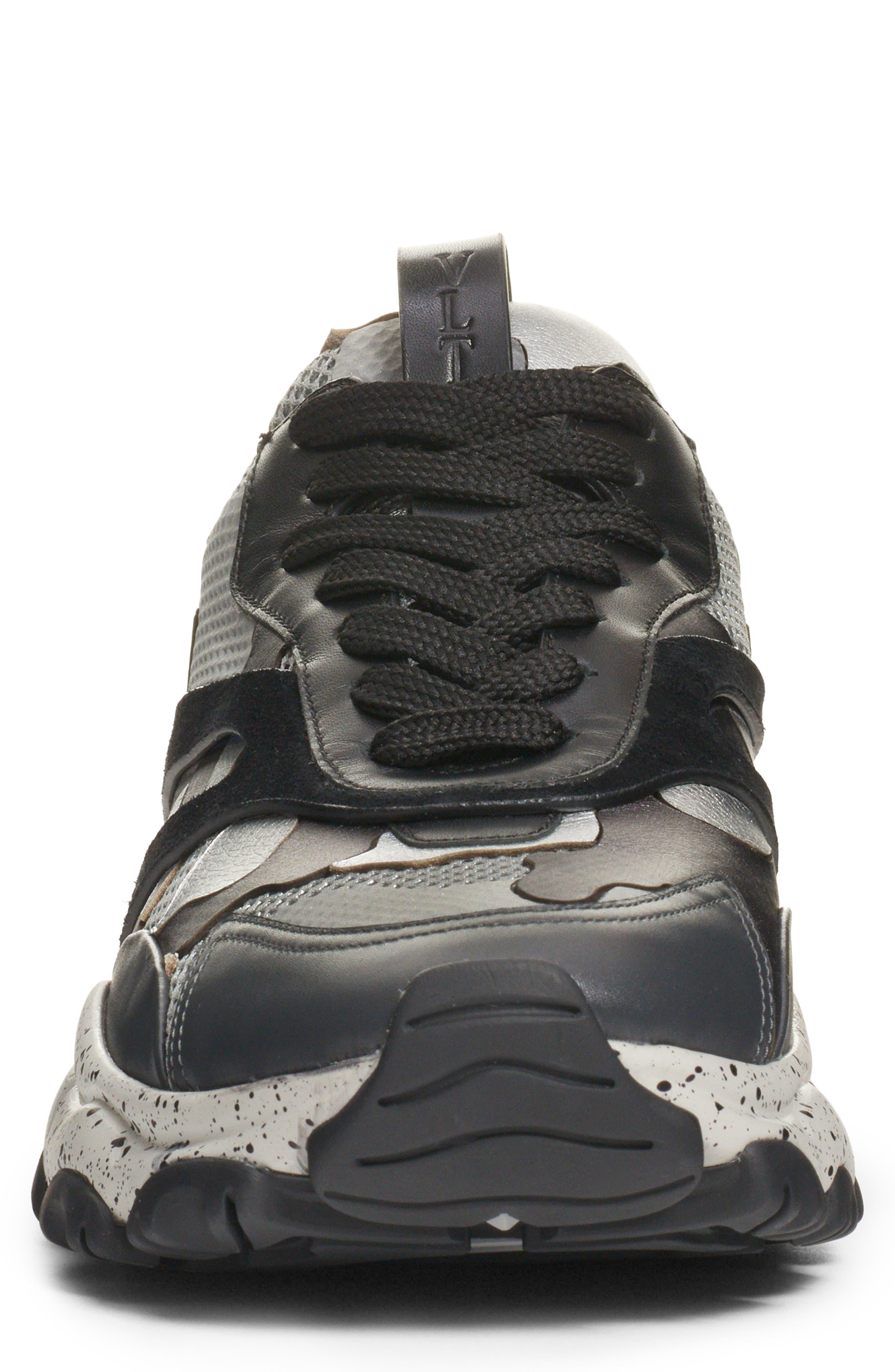 Bounce Sneaker,                             Alternate thumbnail 4, color,                             DARK SILVER/ BLACK
