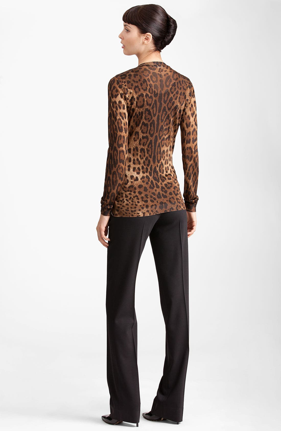 Leopard Print Cardigan,                             Alternate thumbnail 2, color,