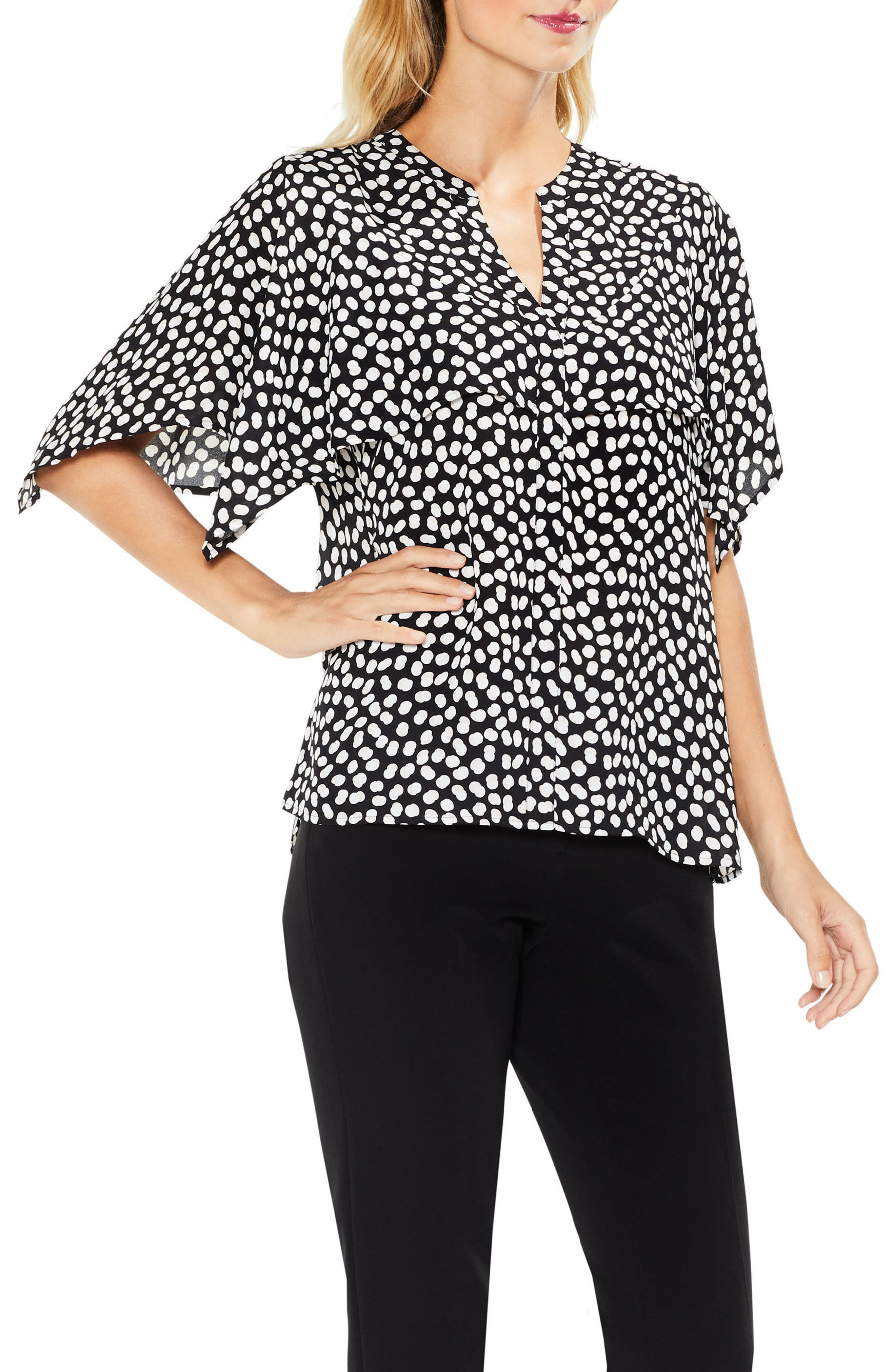 Cape Overlay Flutter Top,                         Main,                         color, 010
